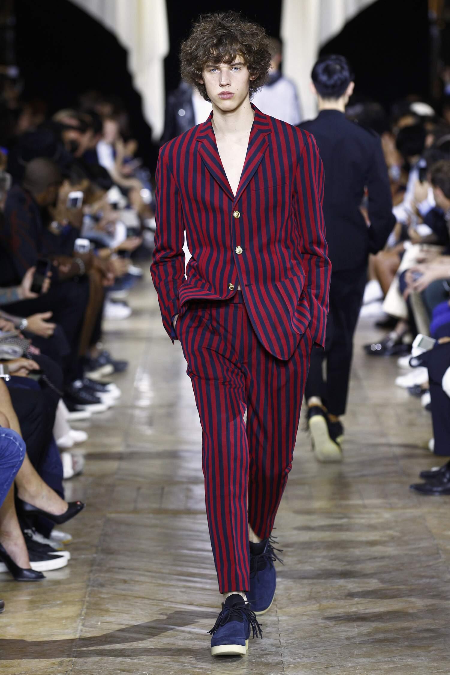 2016 Fashion Man Model Phillip Lim Collection Catwalk