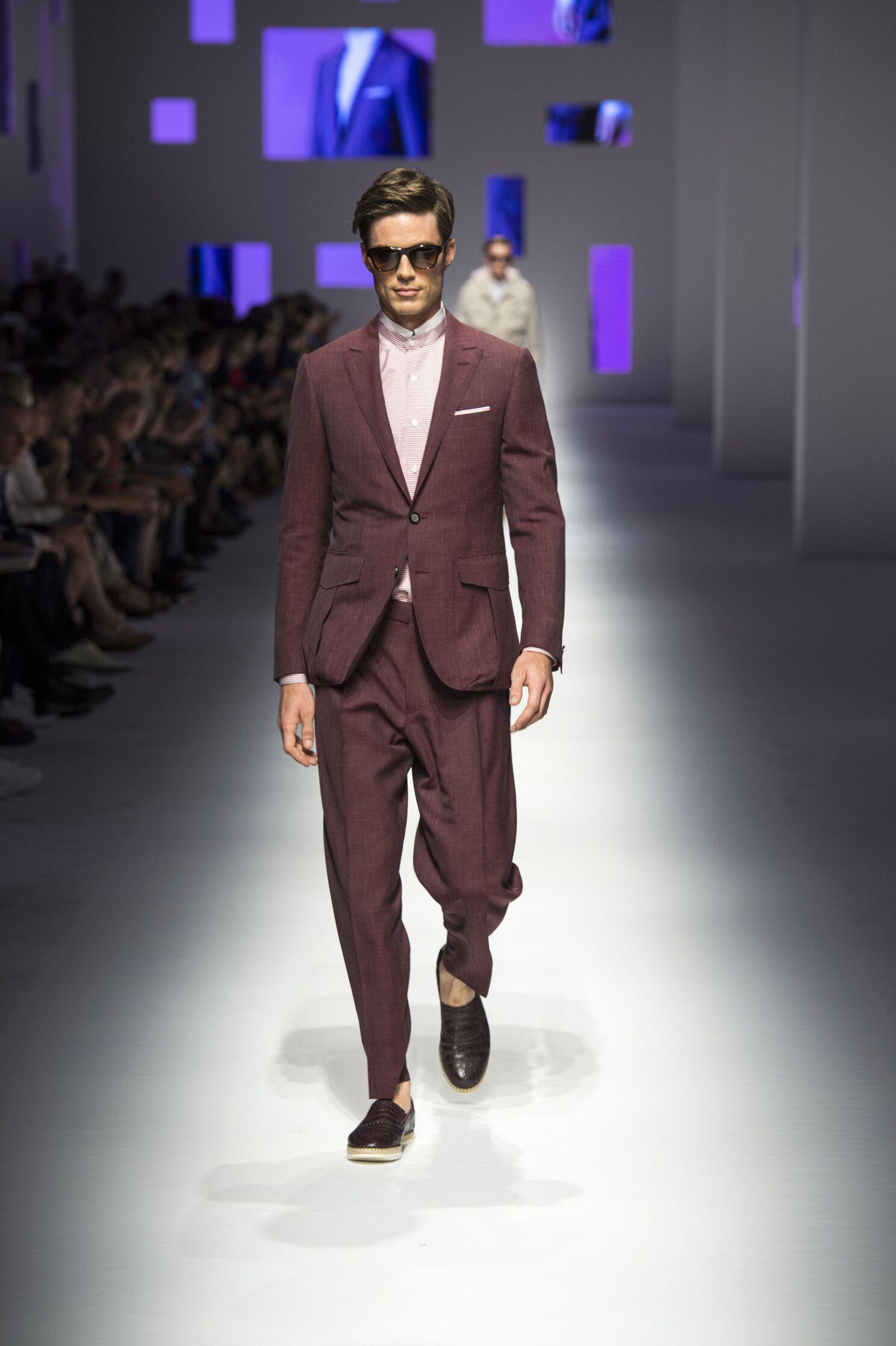 Catwalk Canali Spring Summer 2016 Men's Collection Milan Fashion Week