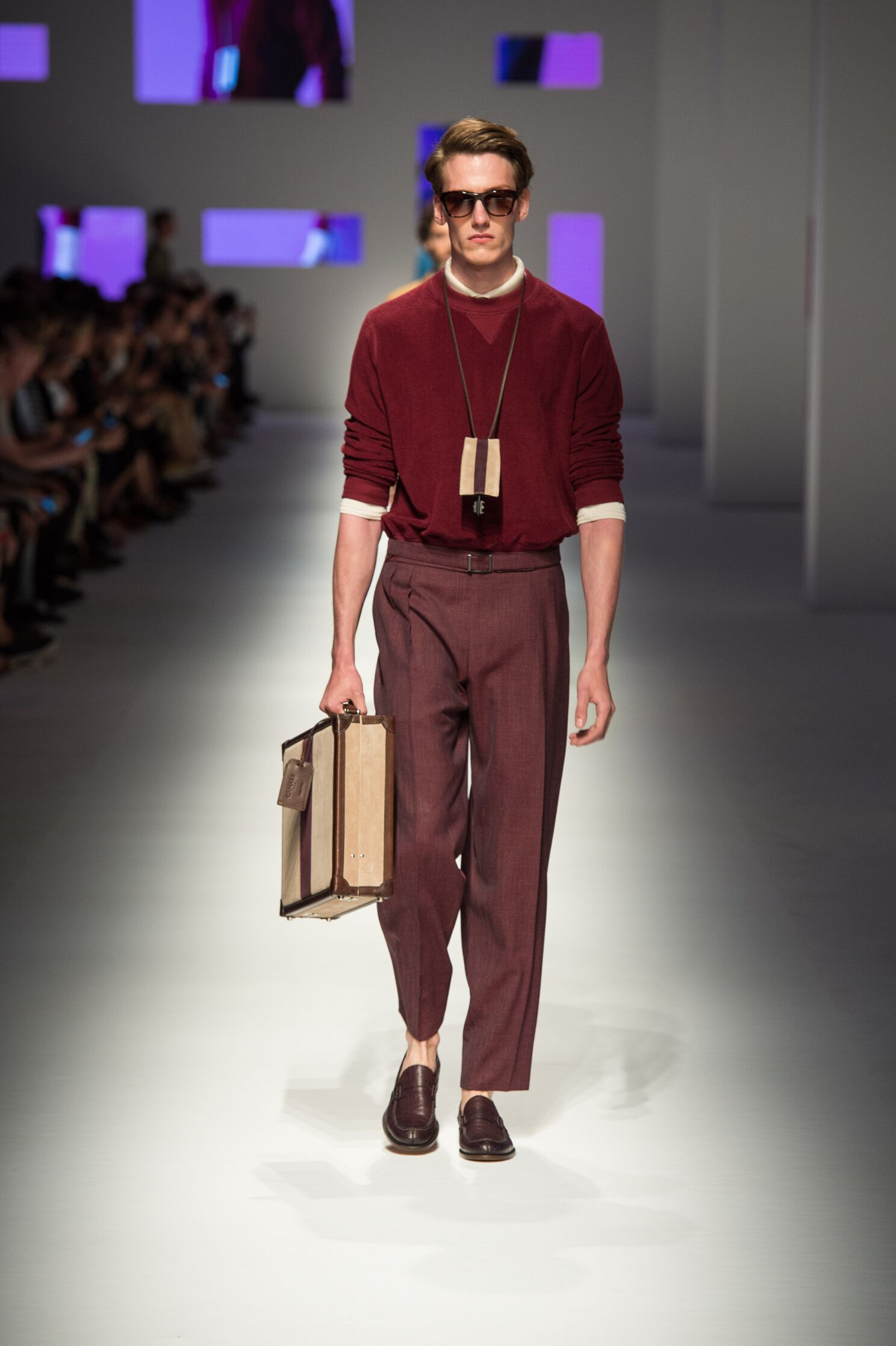 Runway Canali Spring Summer 2016 Men's Collection Milan Fashion Week