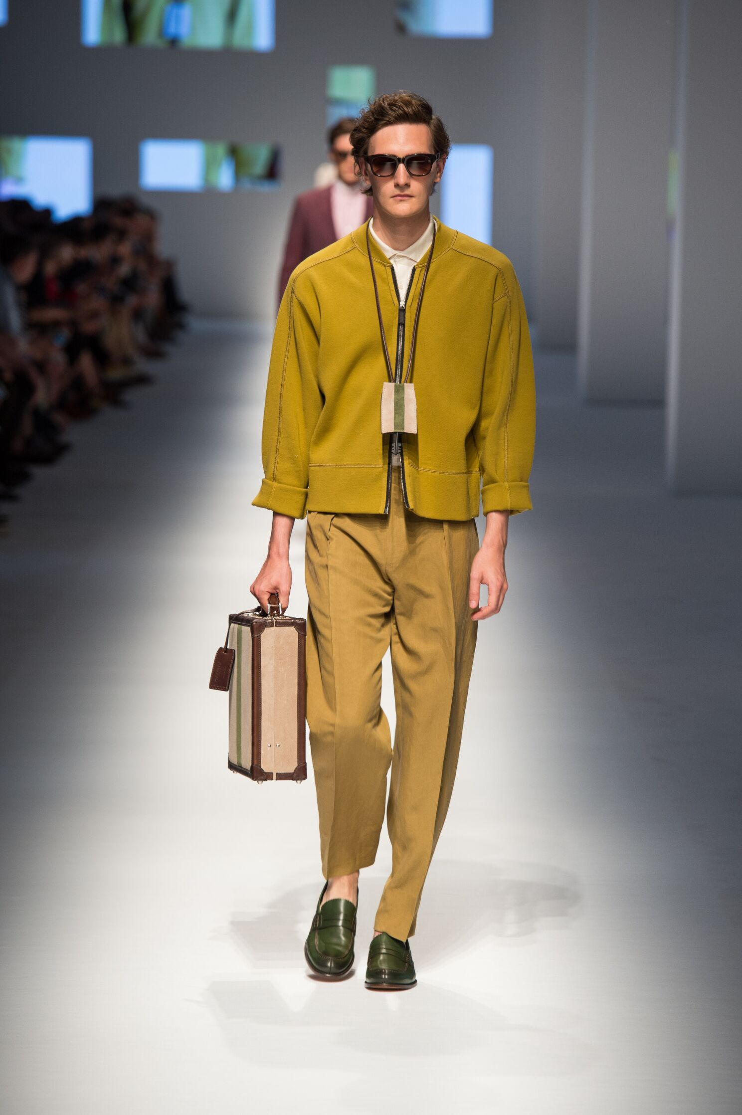 Spring Canali Collection Fashion Men Model