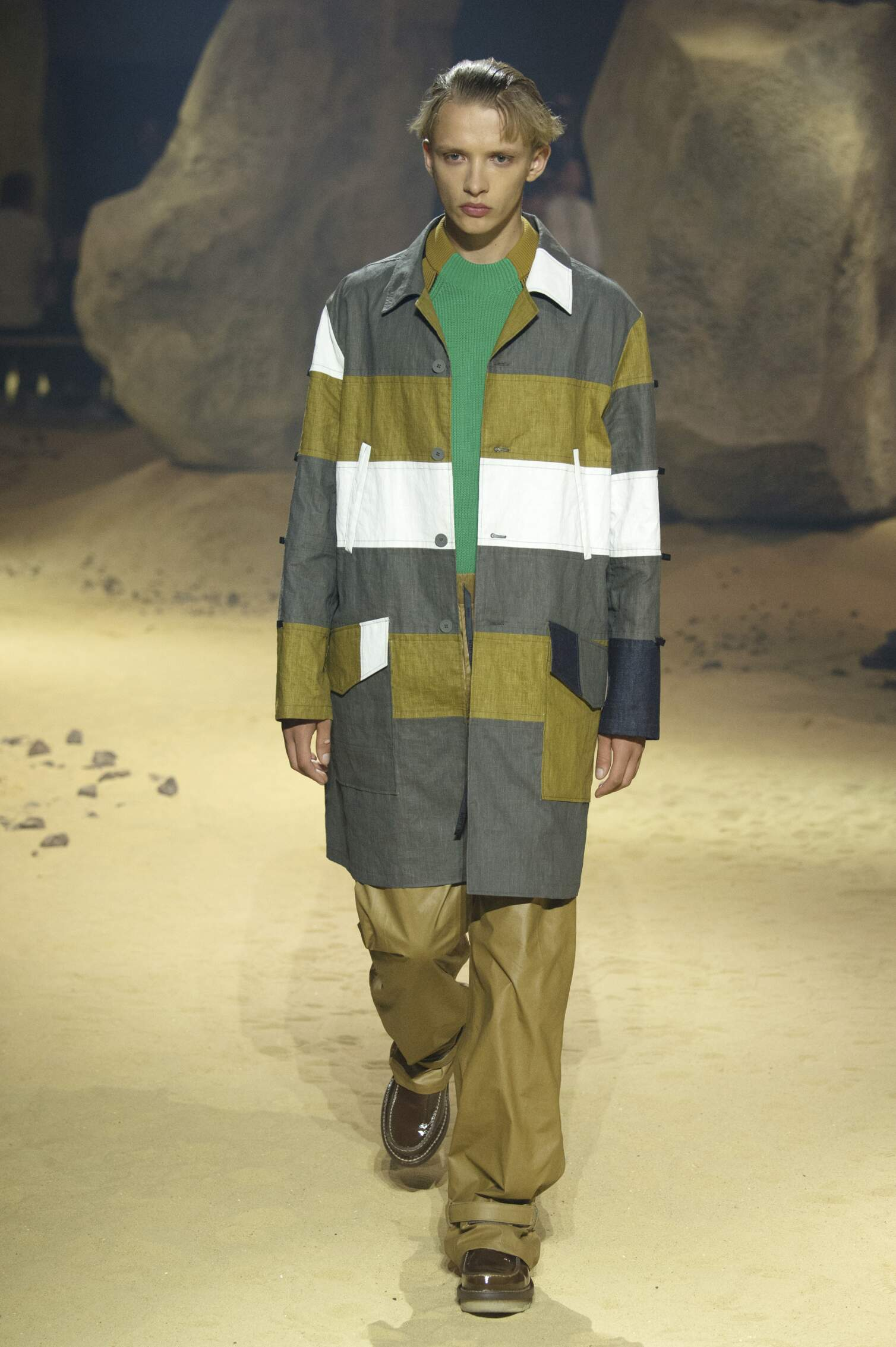 Spring Kenzo Collection Fashion Men Model