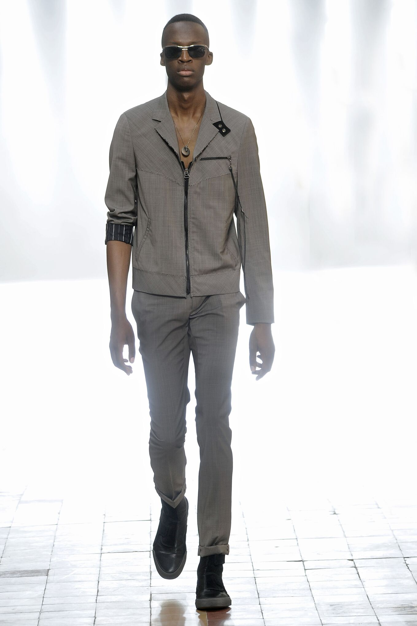 Spring Lanvin Collection Fashion Men Model
