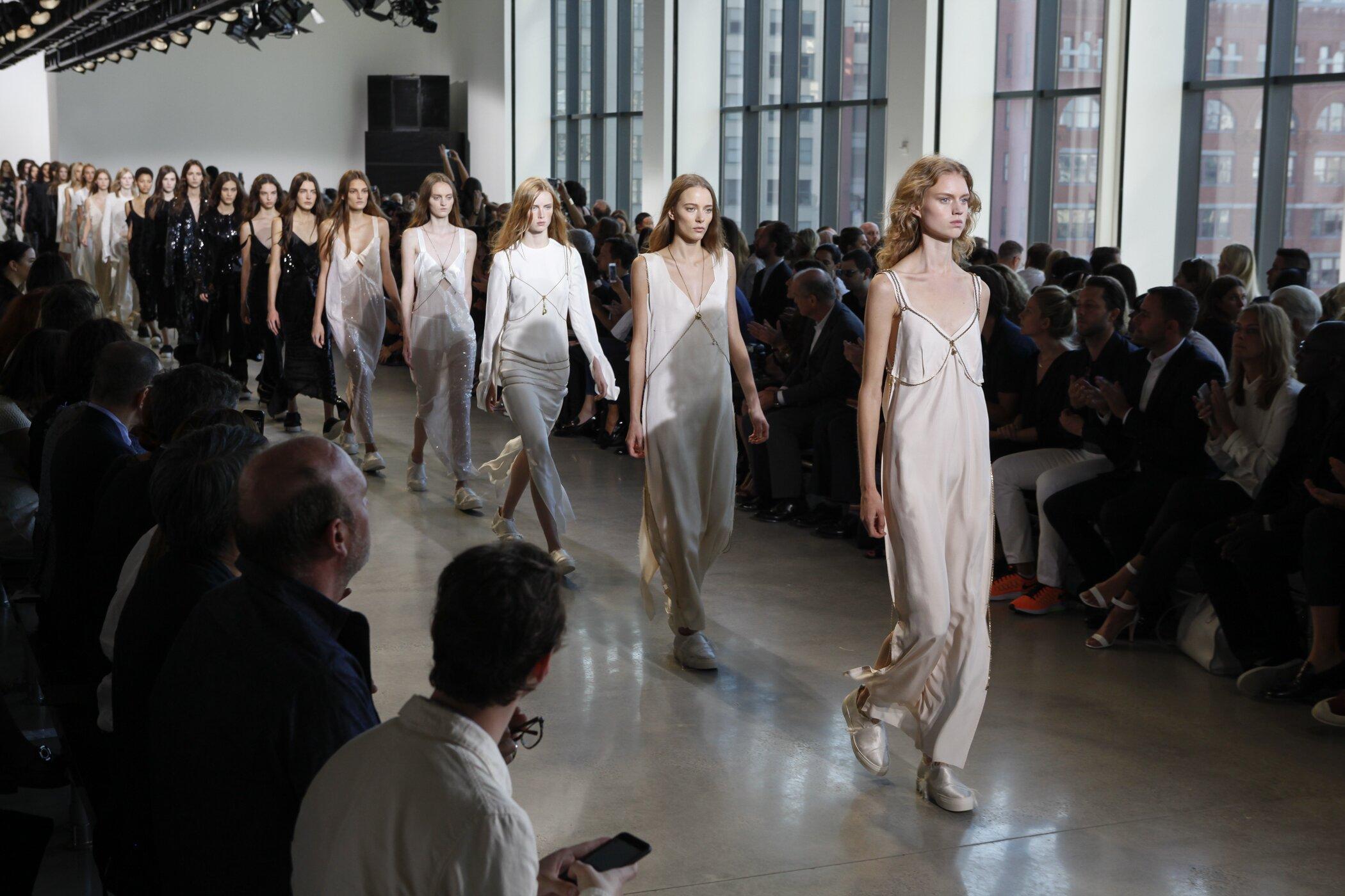 Calvin Klein Fashion Show Finale