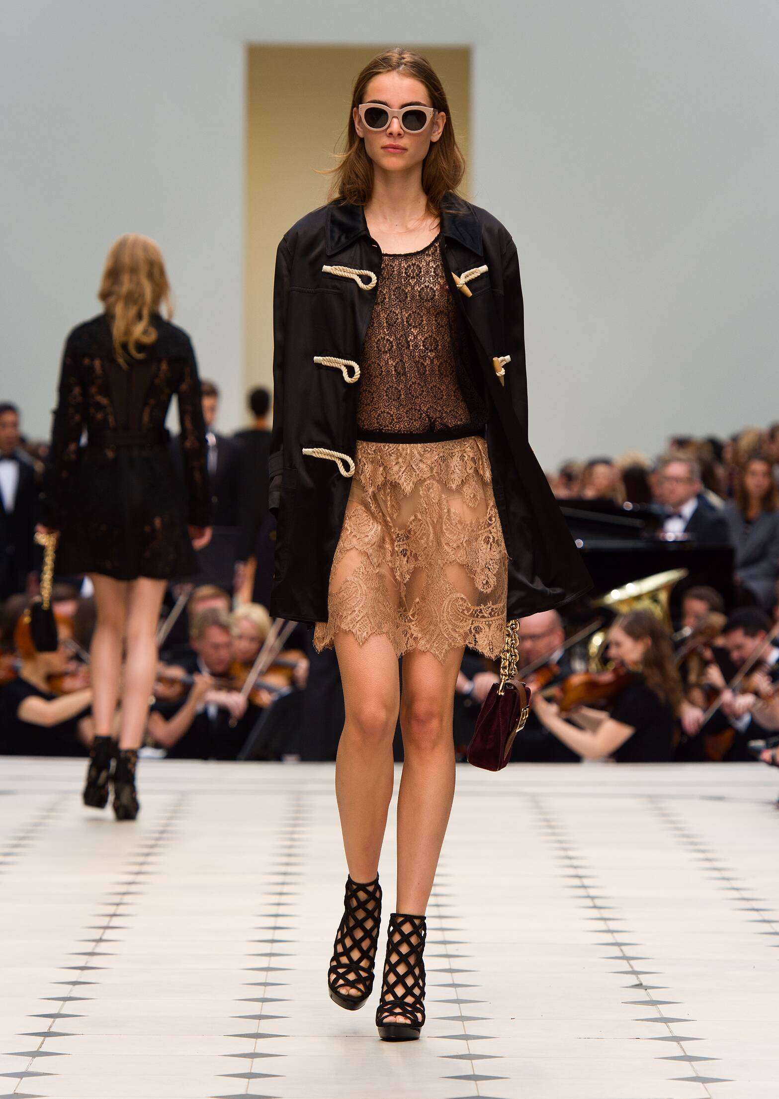 Fashion Model Burberry Prorsum Catwalk