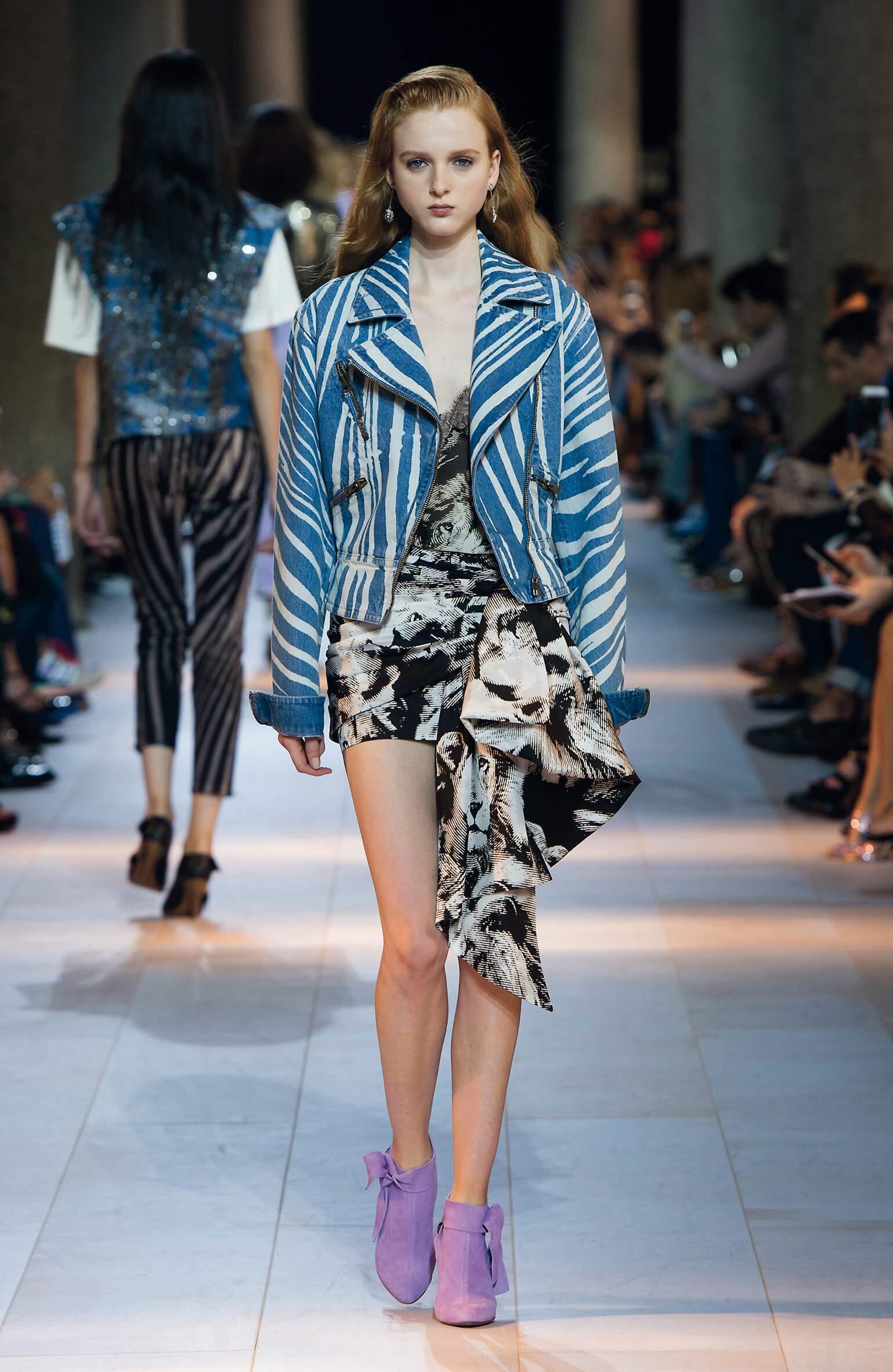 Fashion Model Roberto Cavalli Catwalk