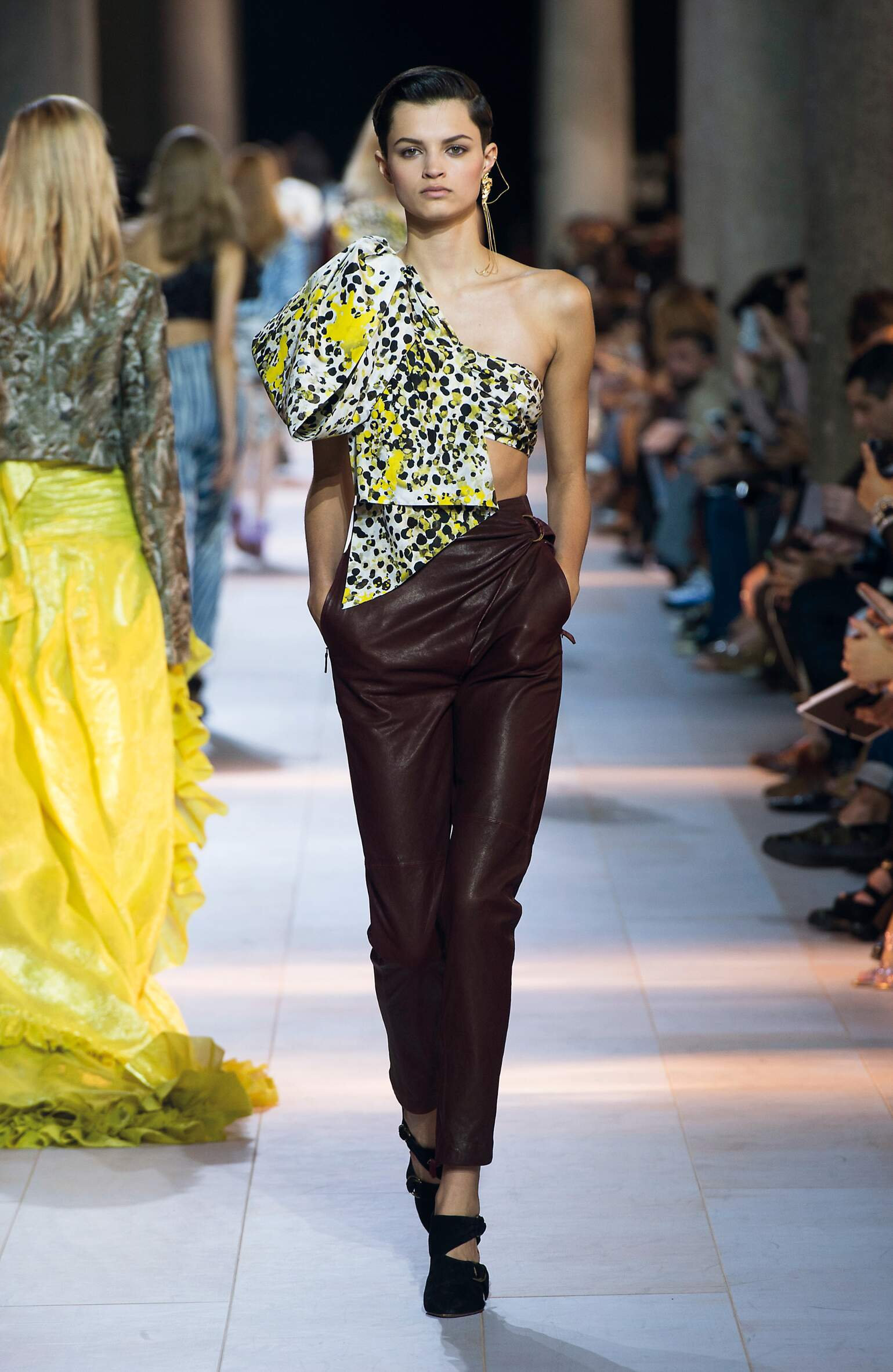 Fashion Woman Model Roberto Cavalli Catwalk