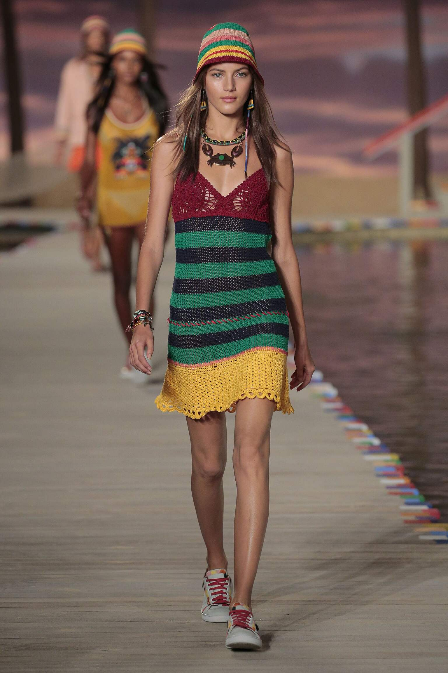 Fashion Woman Model Tommy Hilfiger Catwalk