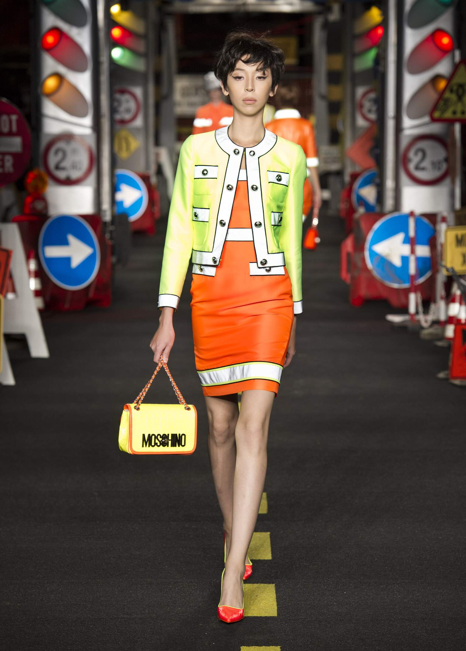 Models Fashion Show Moschino