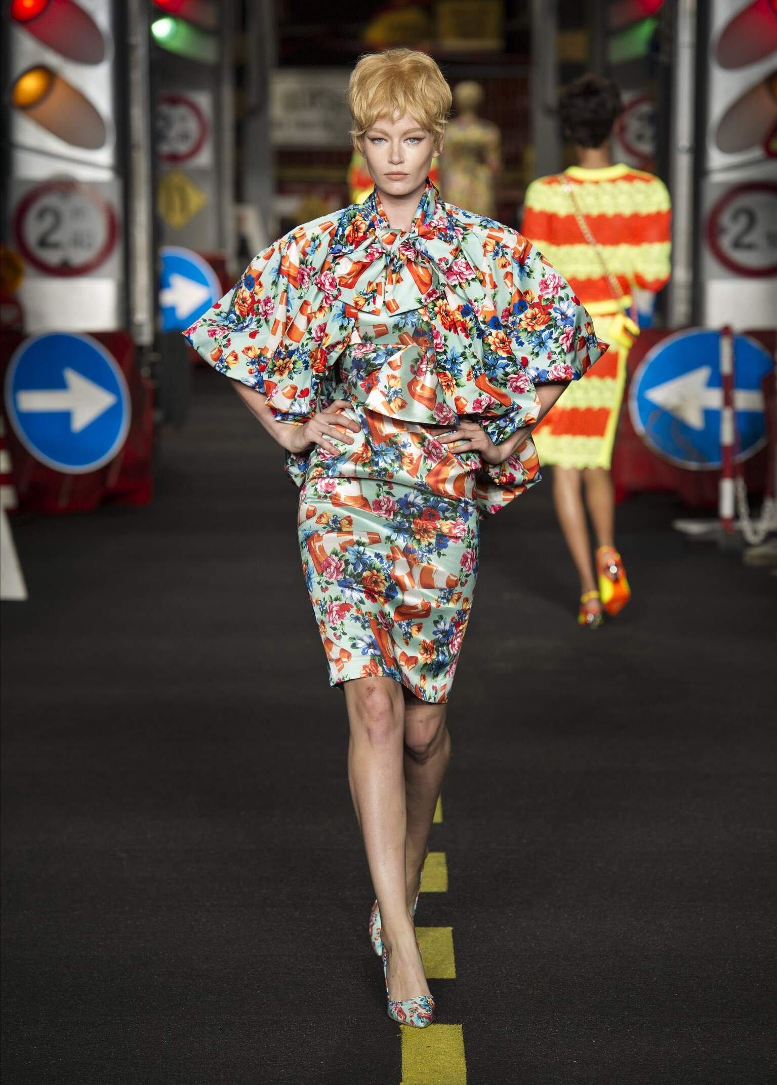 Runway Moschino Spring Summer 2016 Women's Collection Milan Fashion Week