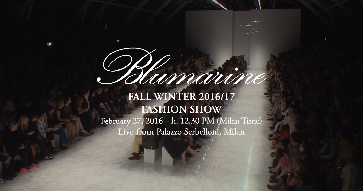 Blumarine Fall Winter 2016 Women's Fashion Show Live Streaming Milan February