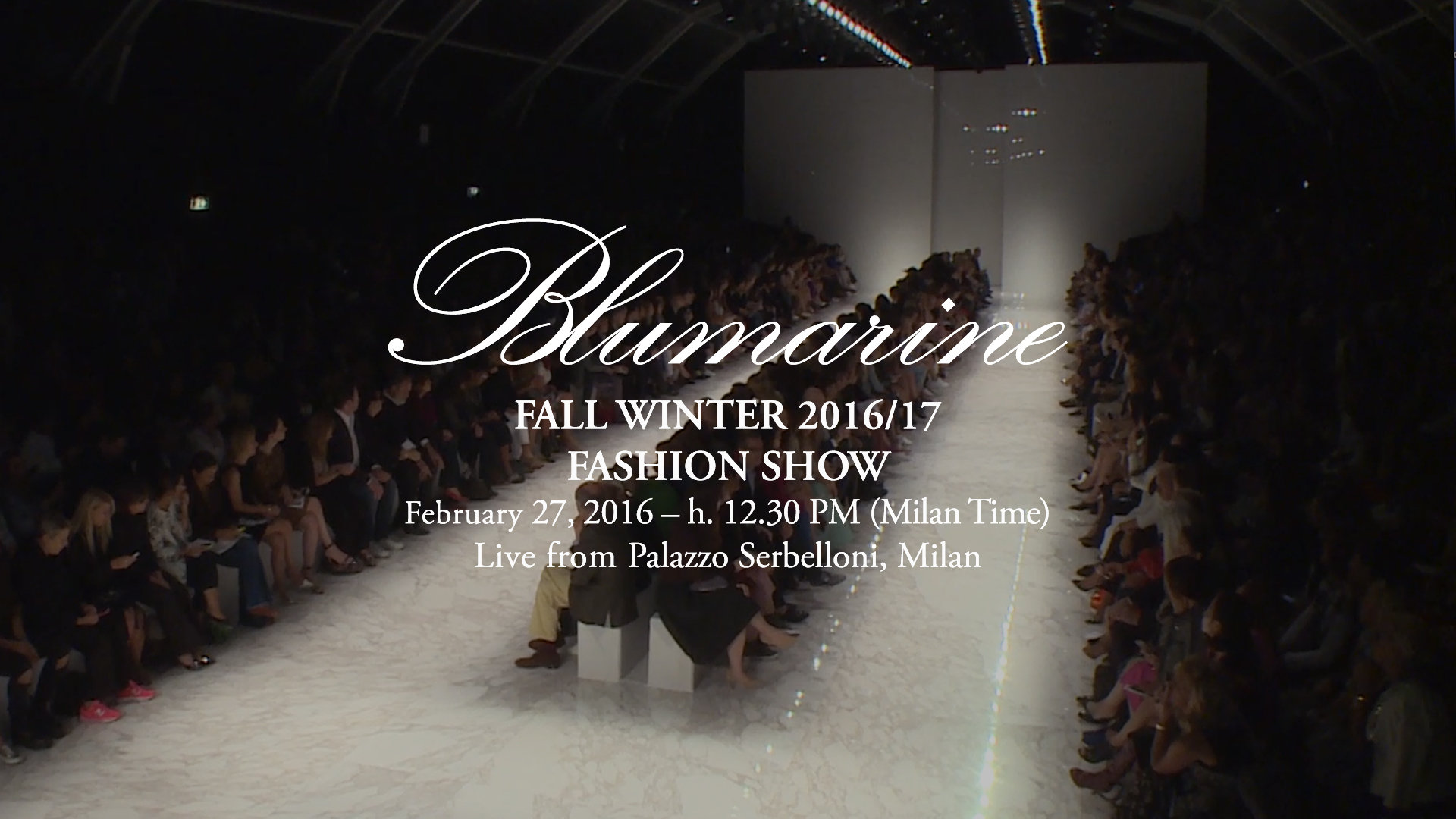 Blumarine Fall Winter 2016 Women's Fashion Show Live Streaming Milan