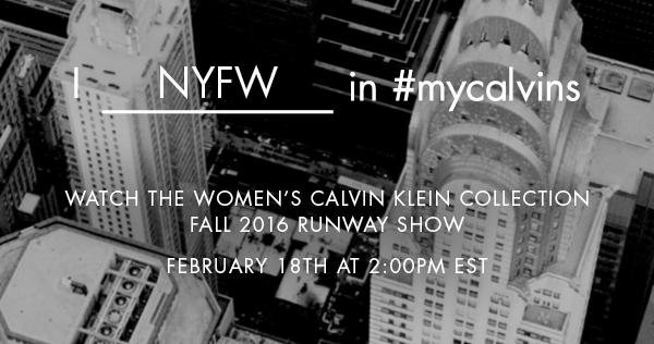 Calvin Klein Fall Winter 2016 Women's Fashion Show Live Streaming New York February