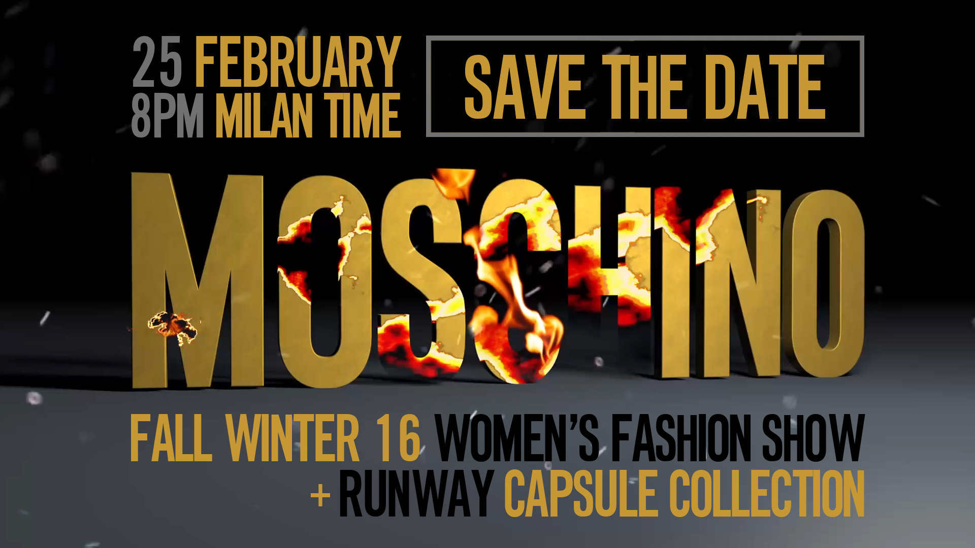 Moschino Fall Winter 2016 Women's Fashion Show Live Streaming