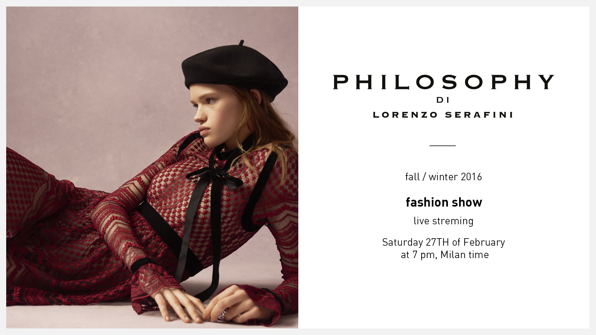 Philosophy di Lorenzo Serafini Fall Winter 2016 Women's Fashion Show Live StreamingPhilosophy di Lorenzo Serafini Fall Winter 2016 Women s Fashion Show Live Streaming