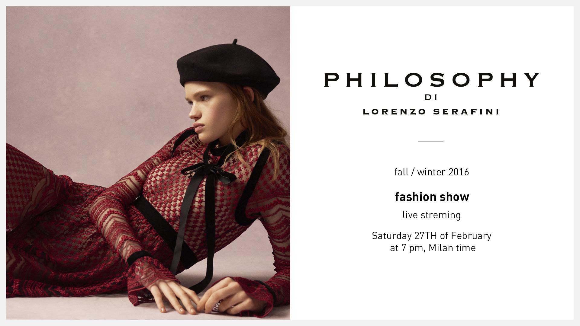 Philosophy di Lorenzo Serafini Fall Winter 2016 Women's Fashion Show Live StreamingPhilosophy di Lorenzo Serafini Fall Winter 2016 Women s Fashion Show Live Streaming