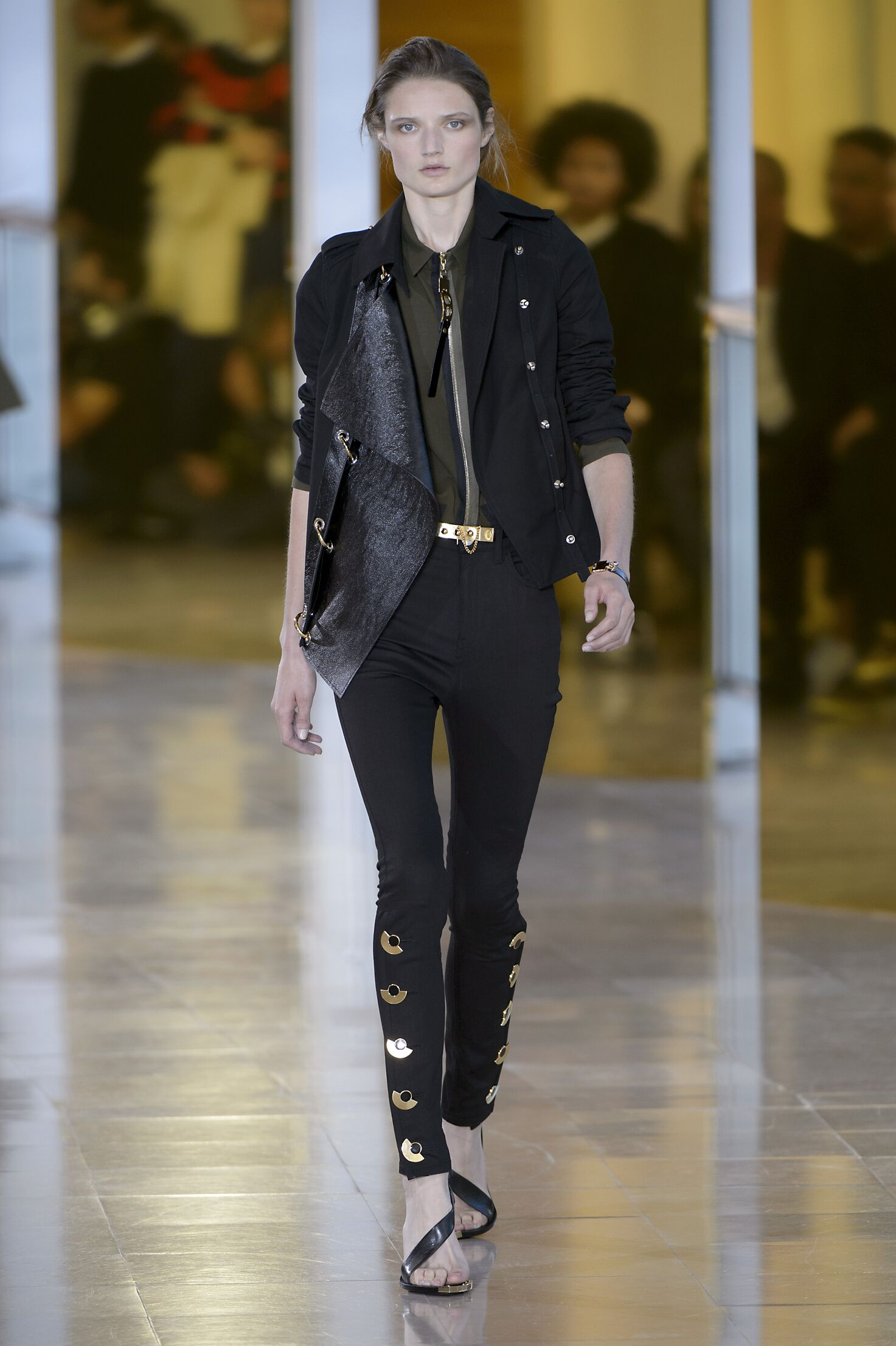2016 Catwalk Anthony Vaccarello Woman Fashion Show Summer