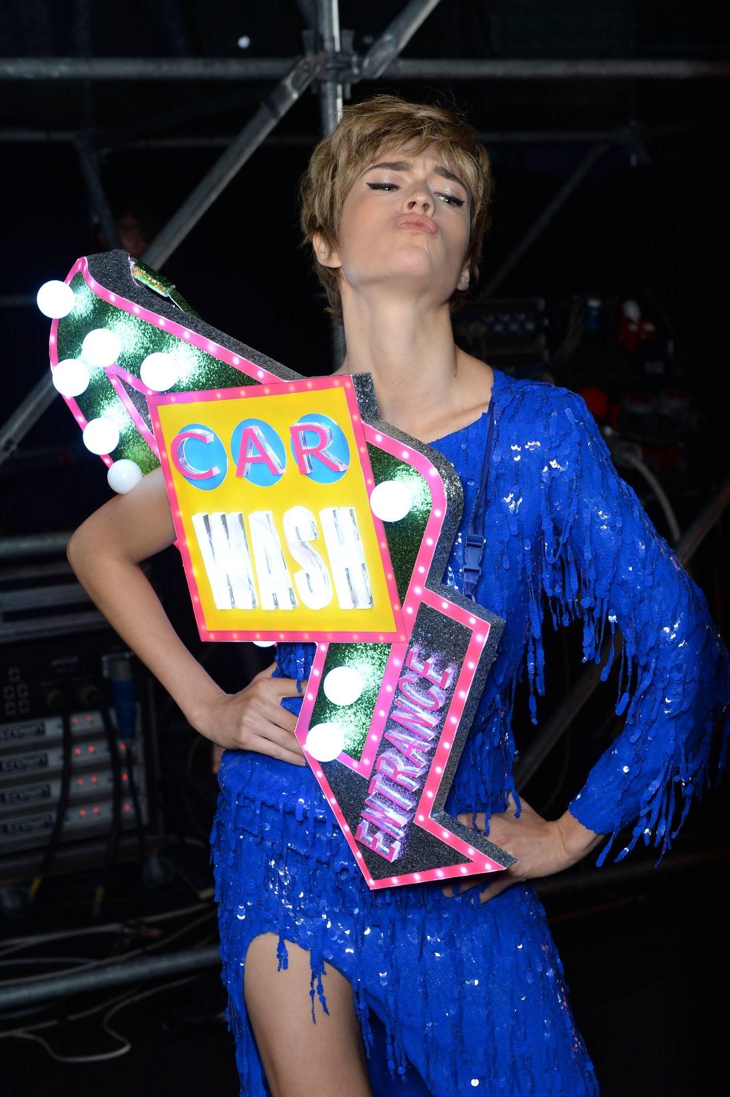 Backstage Moschino Fashion Model