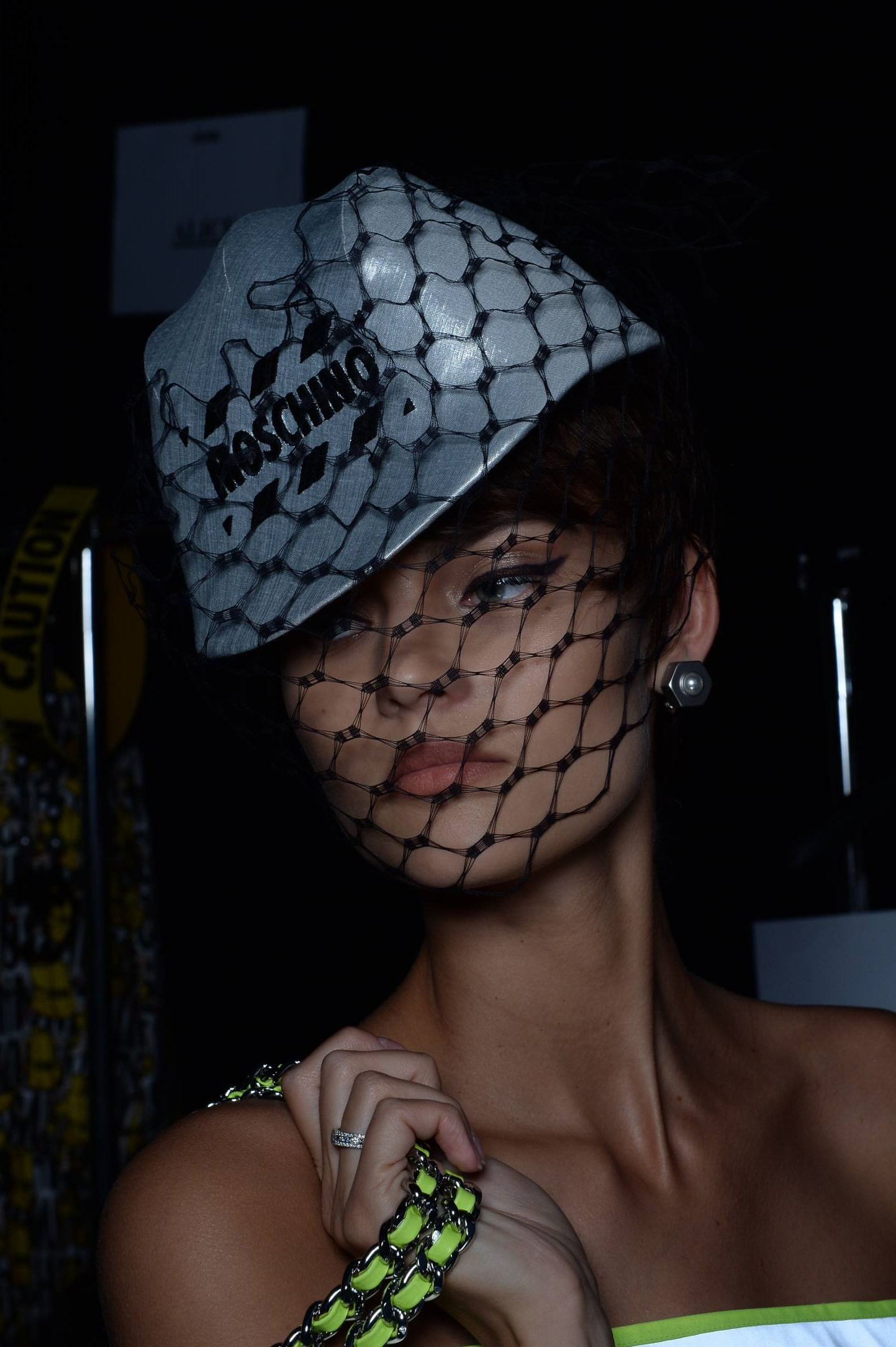 Backstage Moschino Fashion Show