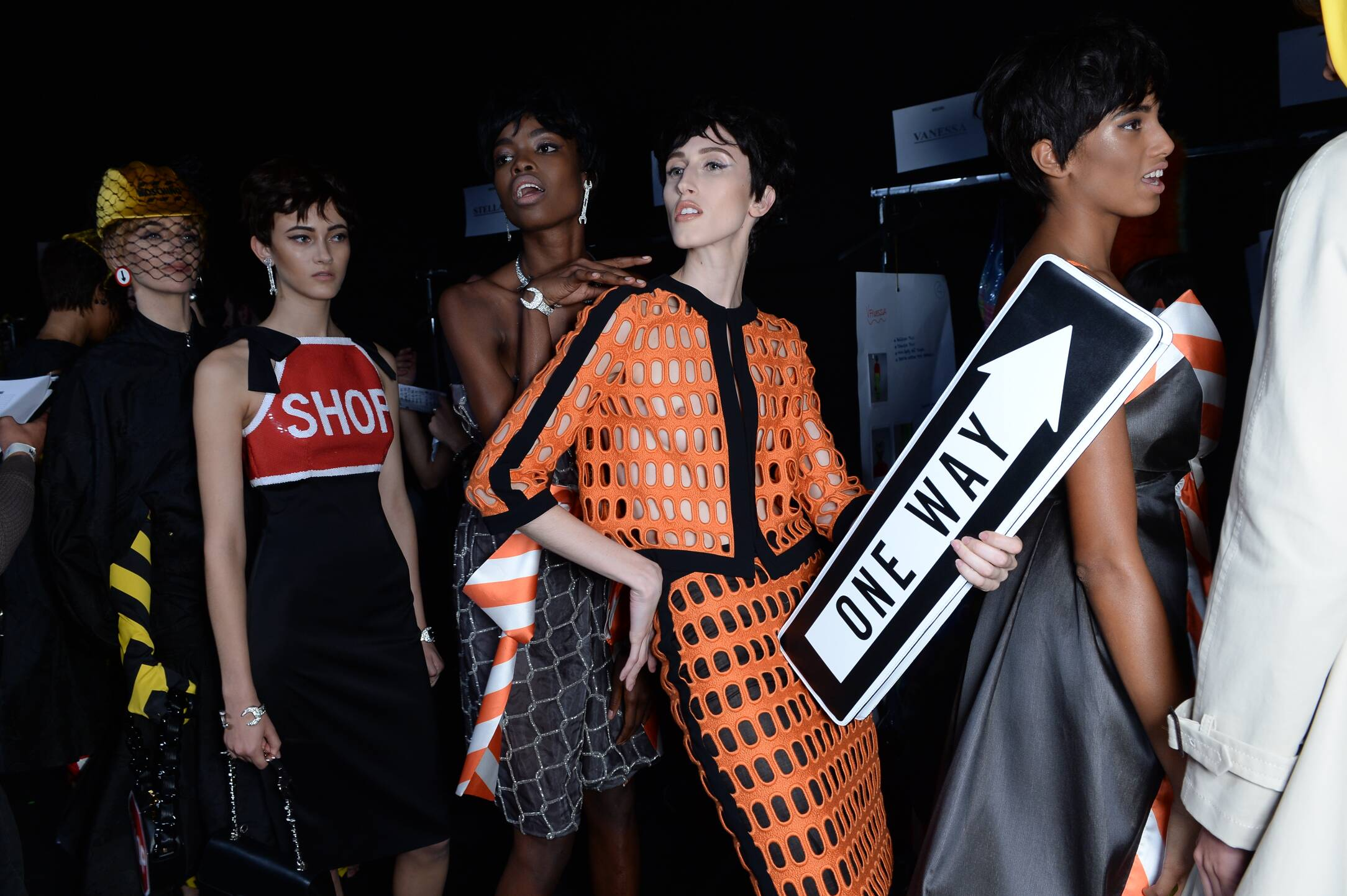 Backstage Woman Moschino Models