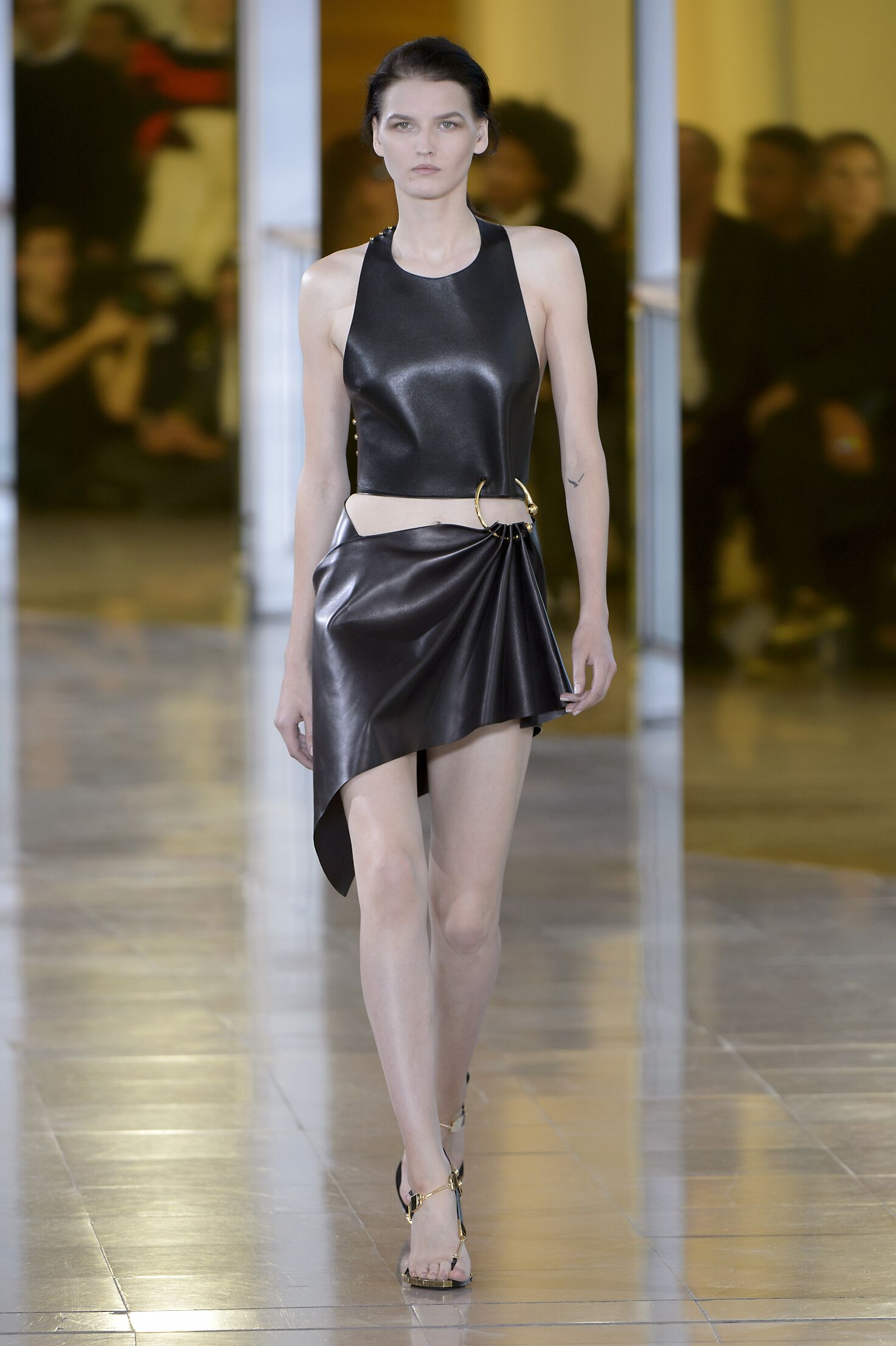 Catwalk Anthony Vaccarello Woman Fashion Show Summer 2016