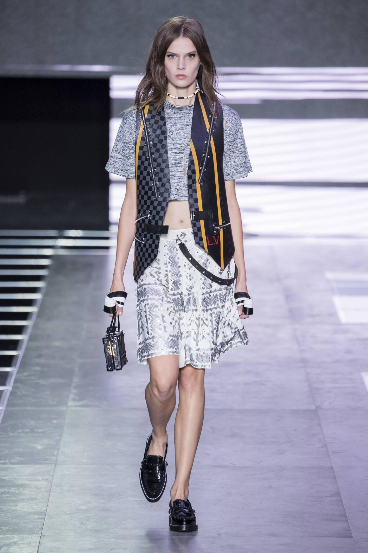 Fashion Model Louis Vuitton Catwalk