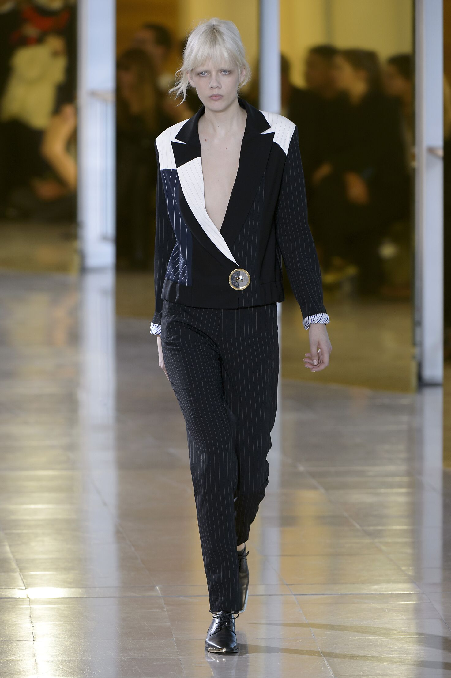 Fashion Woman Model Anthony Vaccarello Catwalk
