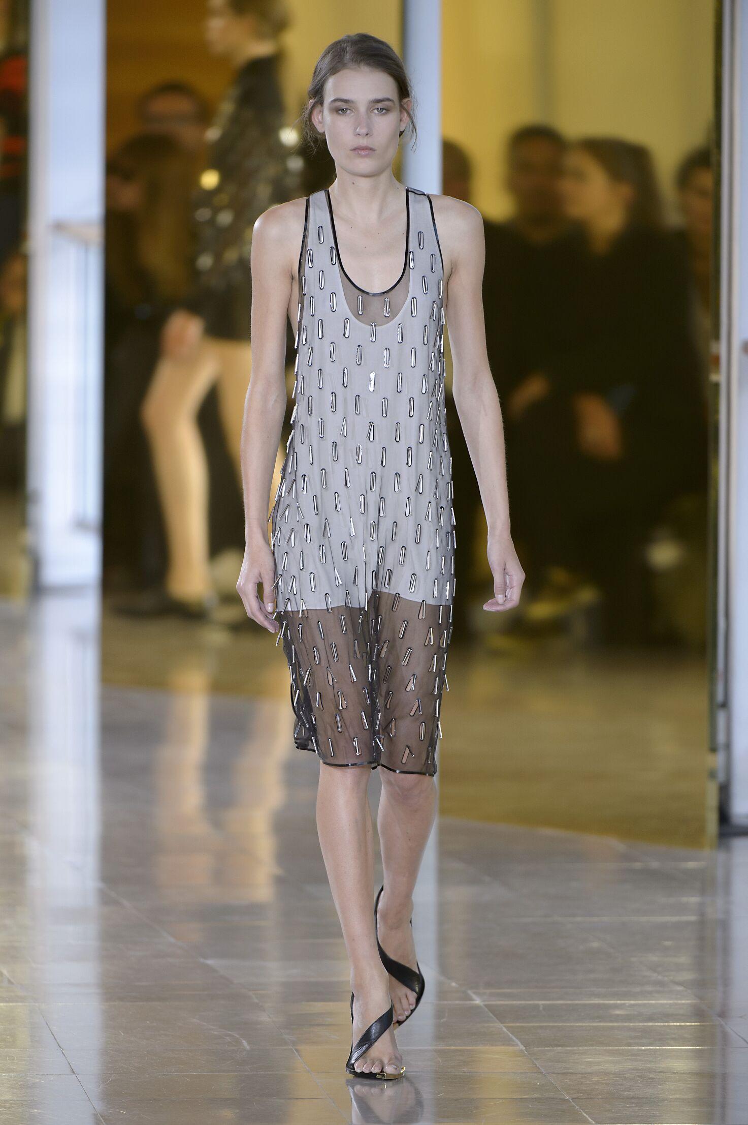 Models Fashion Show Anthony Vaccarello