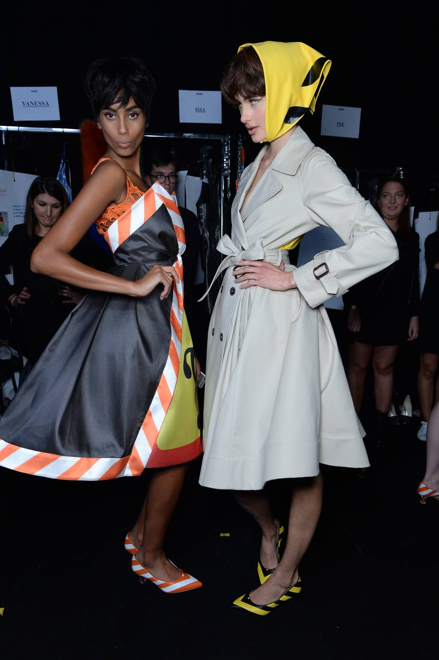 Models Moschino Backstage