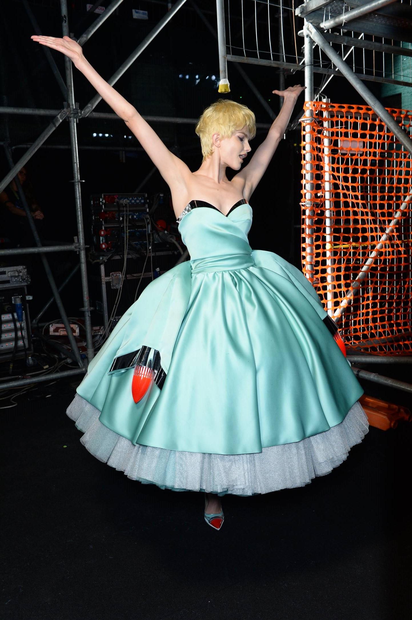 Moschino Backstage Fashion Model Milan