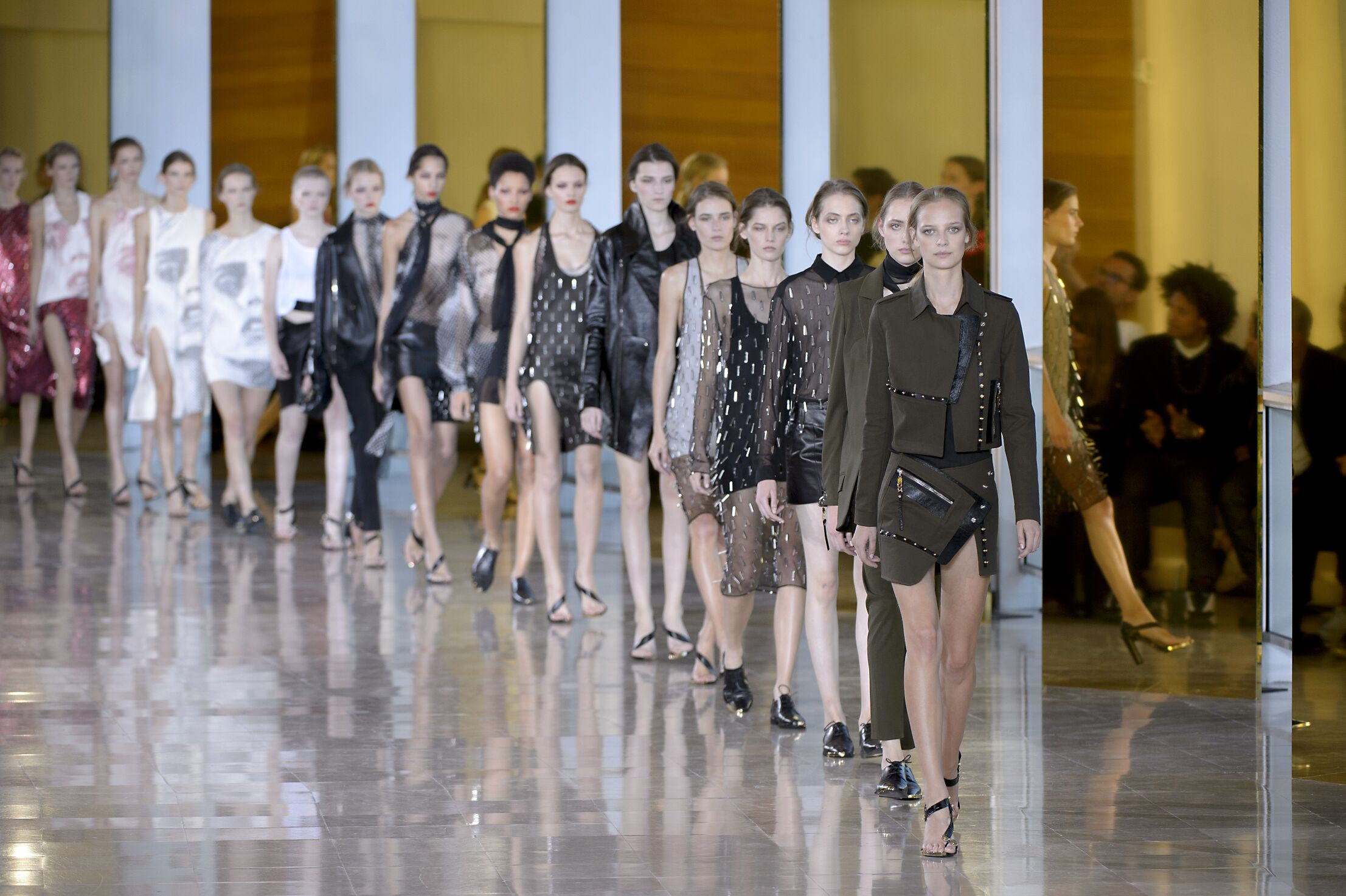 SS 2016 Anthony Vaccarello Fashion Show Finale