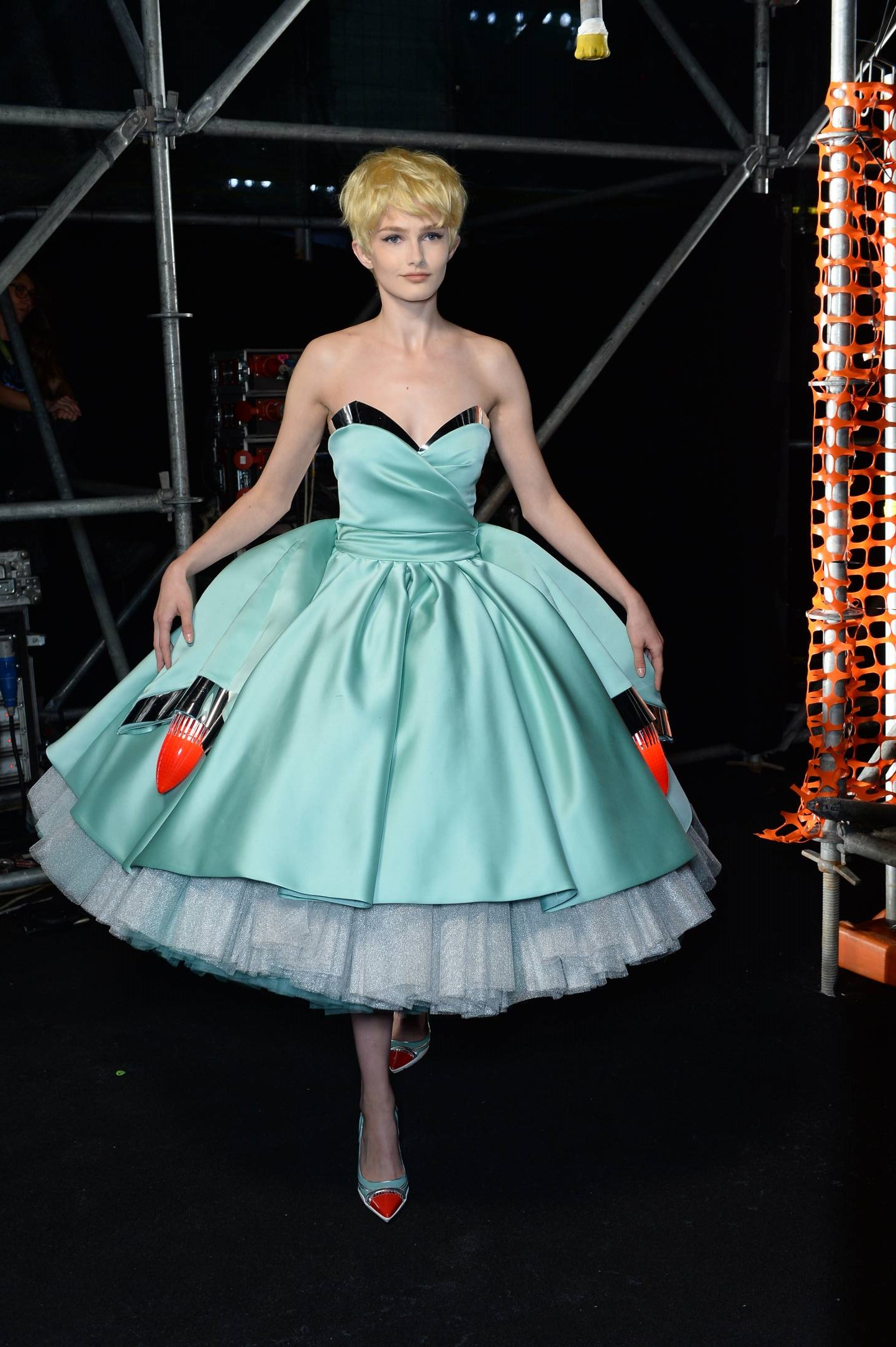 Woman Model Backstage Moschino