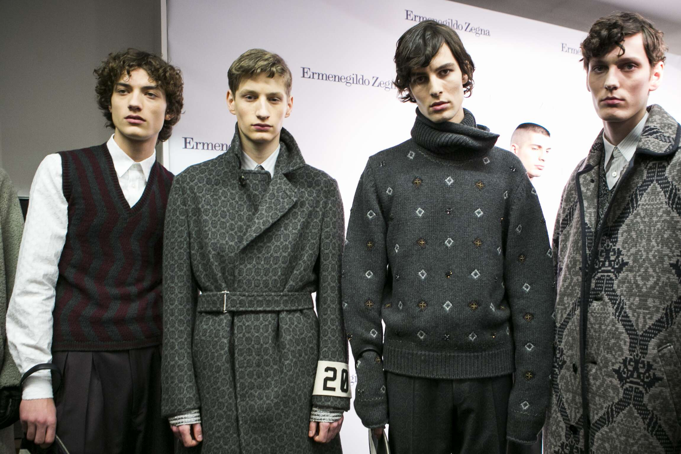 2016 Models Backstage Ermenegildo Zegna Couture