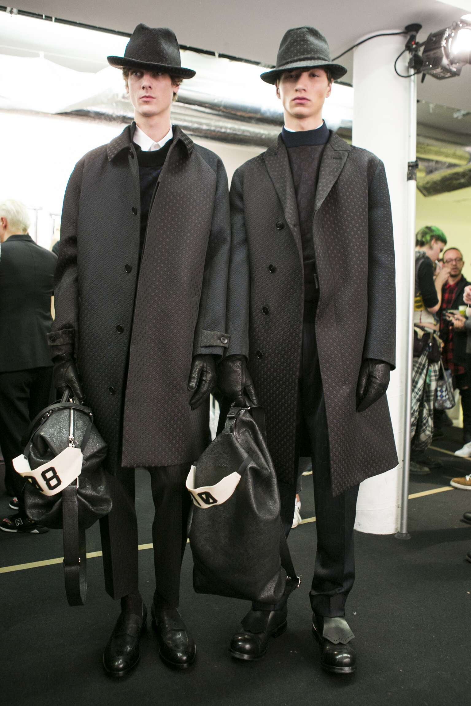 Backstage Ermenegildo Zegna Couture Fall Winter 2016 17