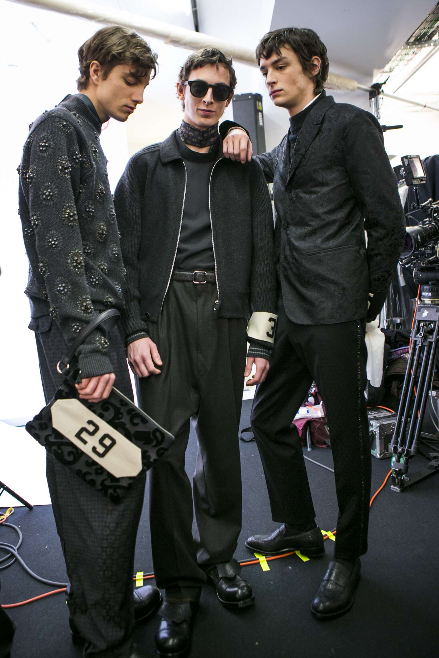 Backstage Ermenegildo Zegna Couture Milan Fashion Week