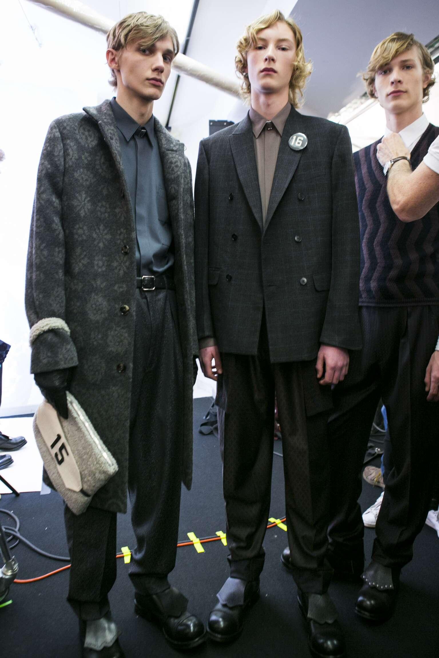 Backstage Ermenegildo Zegna Couture Models Milan