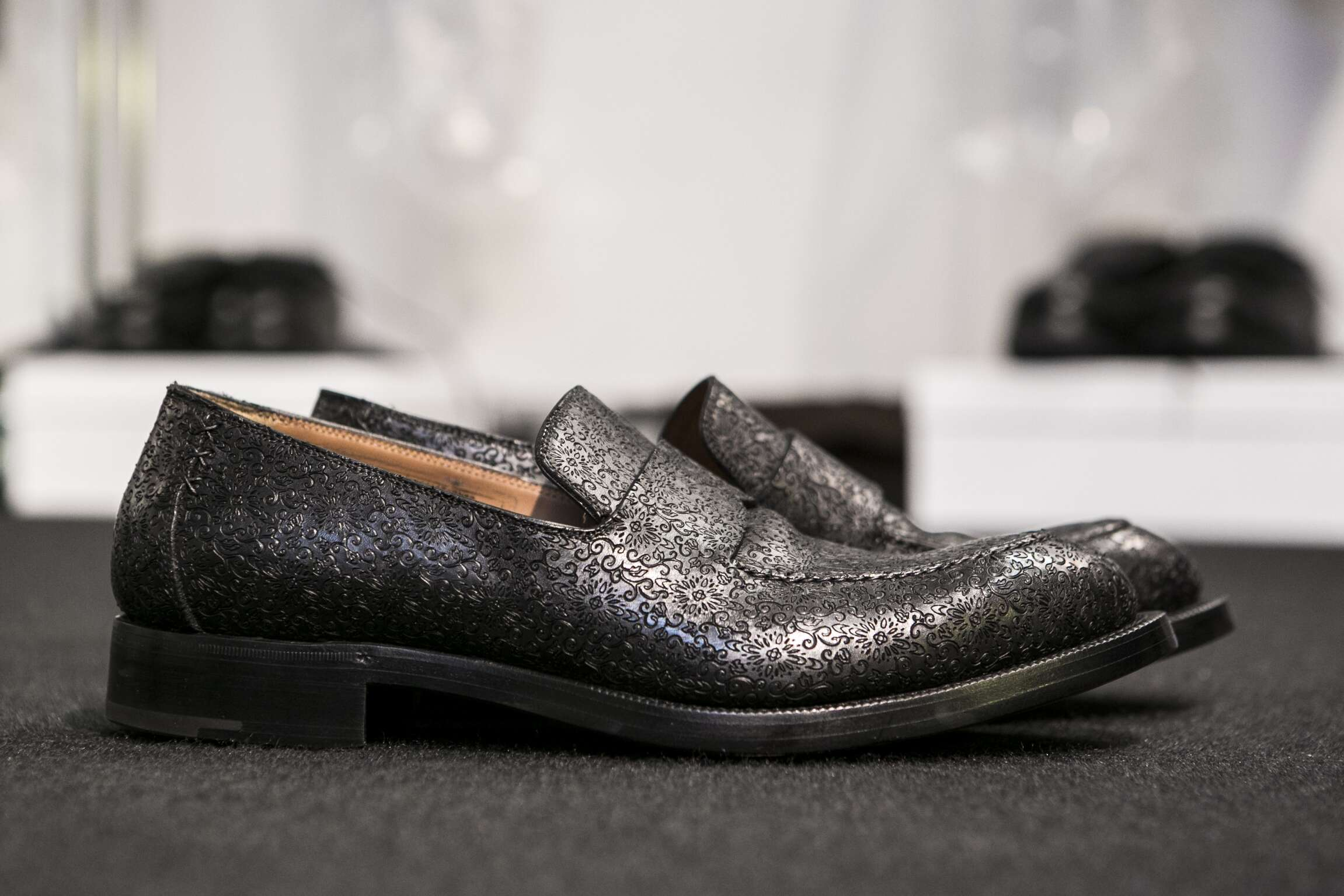 Backstage Ermenegildo Zegna Couture Shoes Detail