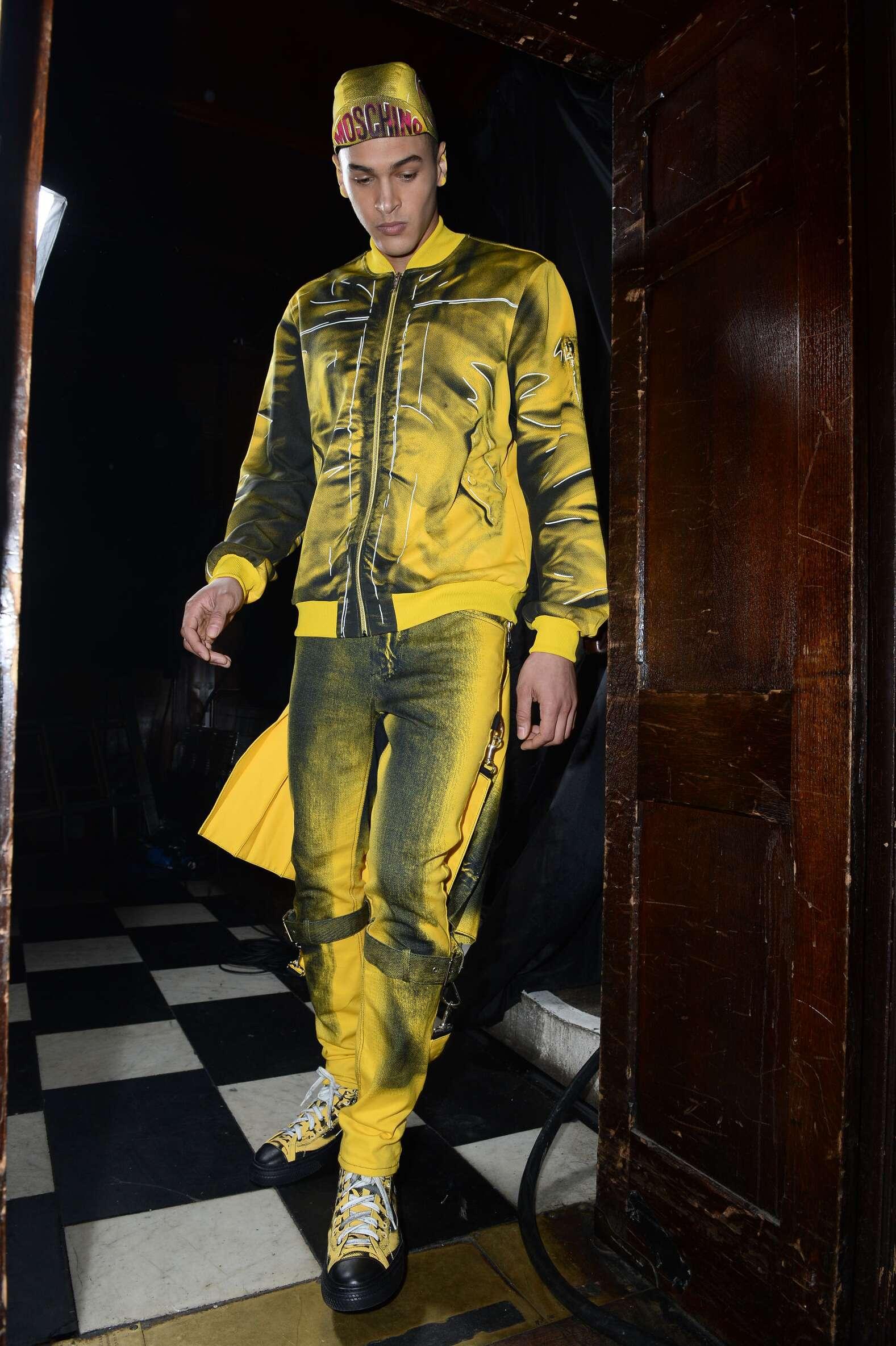 Backstage Man Moschino Model