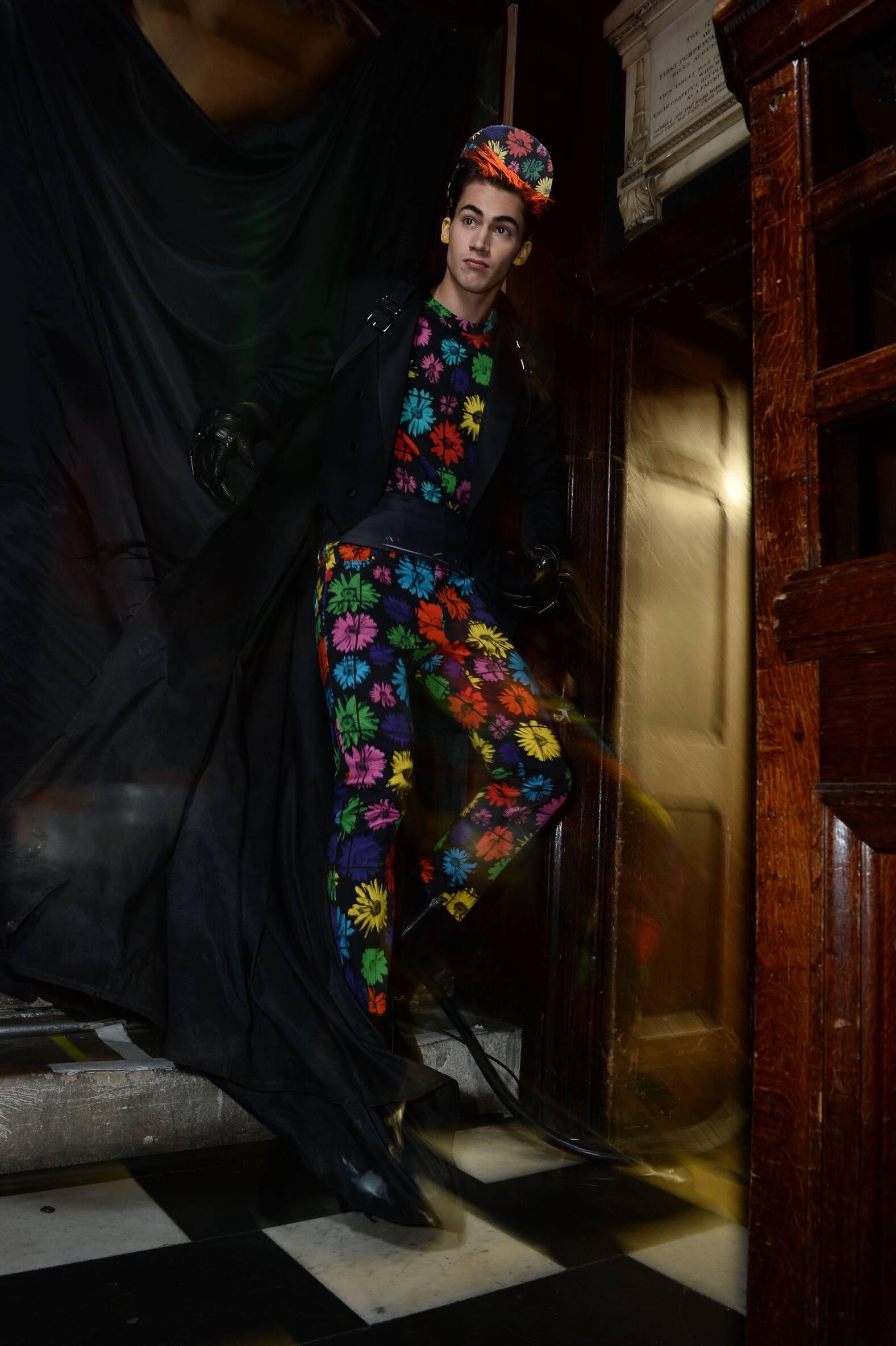 Backstage Moschino Fashion Show Model London