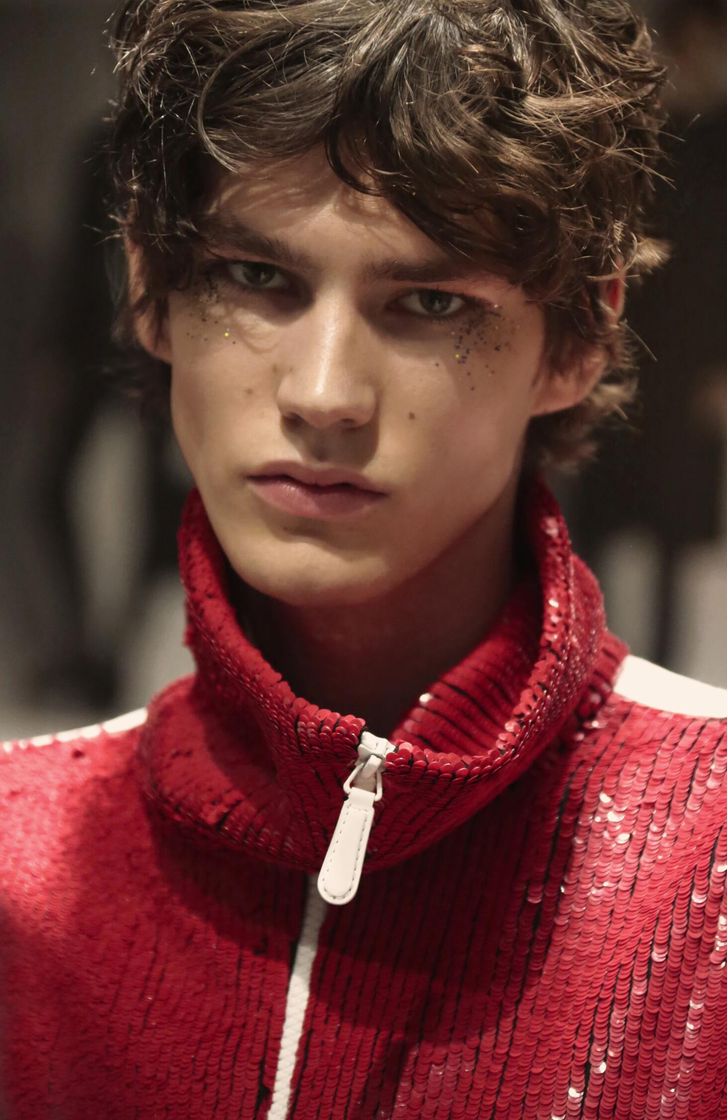 Burberry Backstage Model