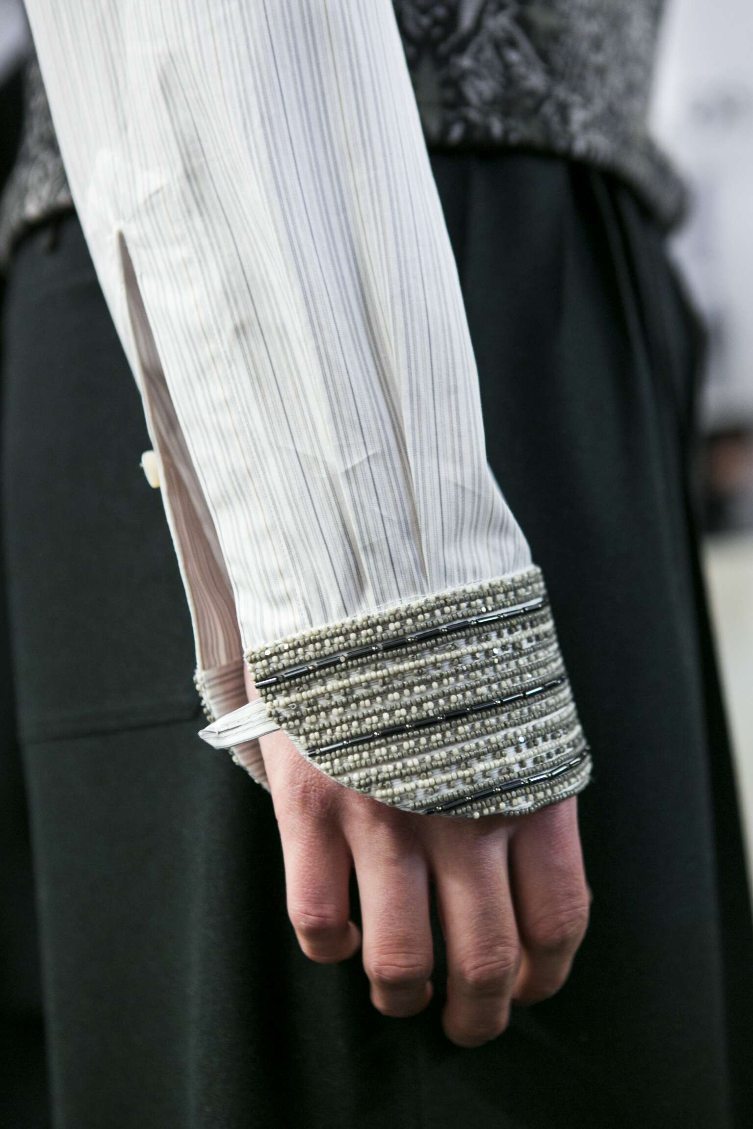 Detail Ermenegildo Zegna Couture Backstage
