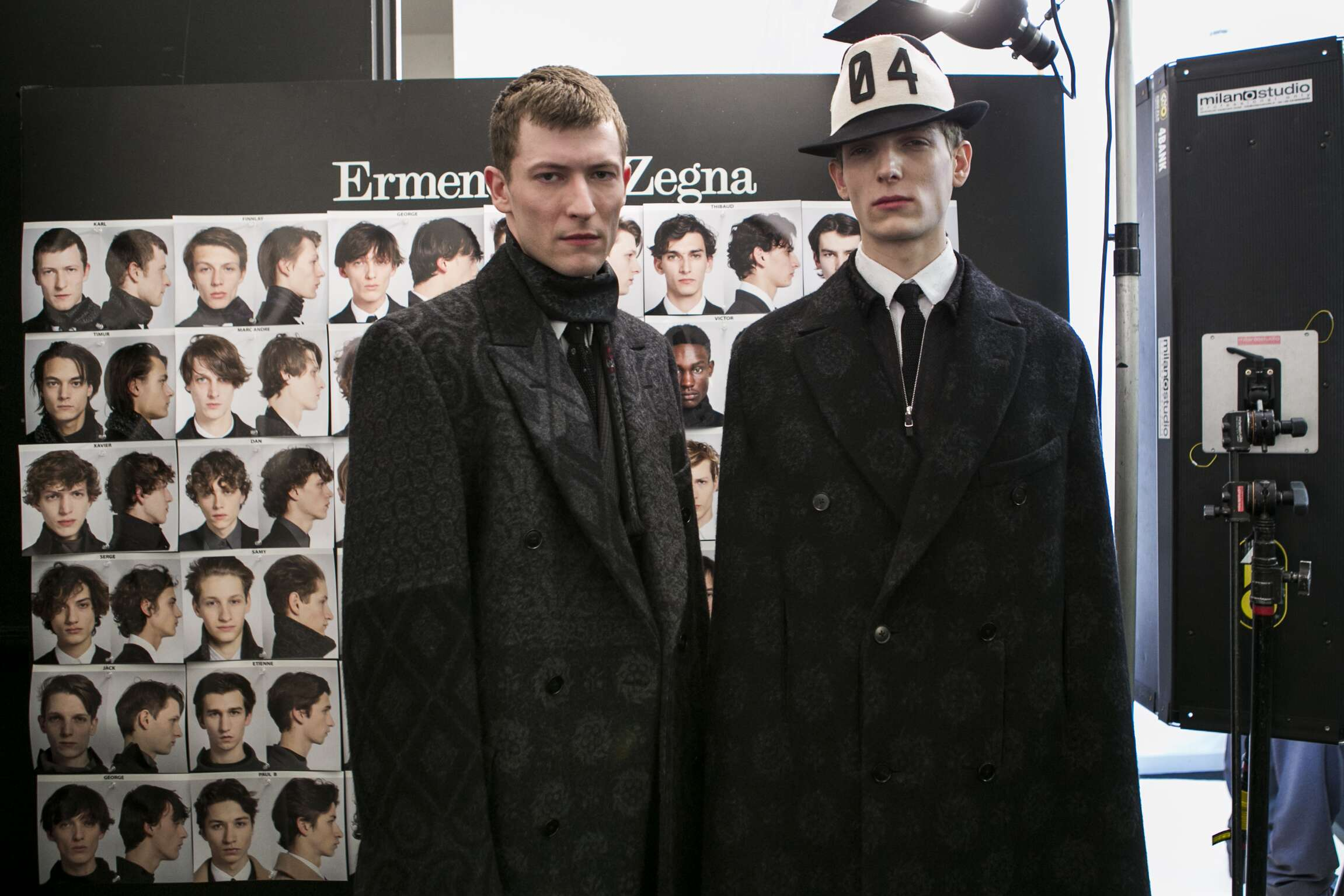 Ermenegildo Zegna Couture Backstage Fashion Models Menswear