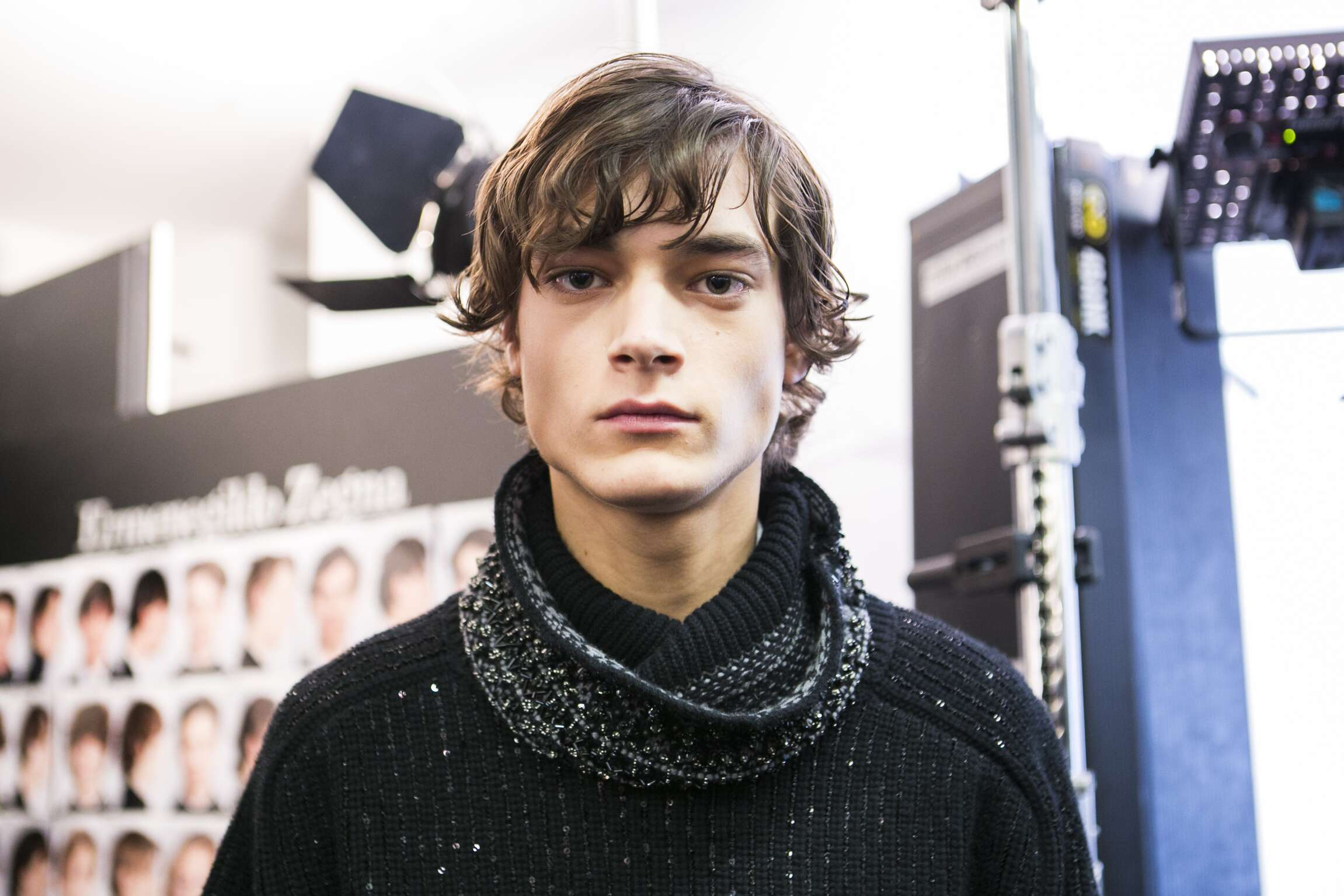 FW 2016 Ermenegildo Zegna Couture Backstage Fashion Model