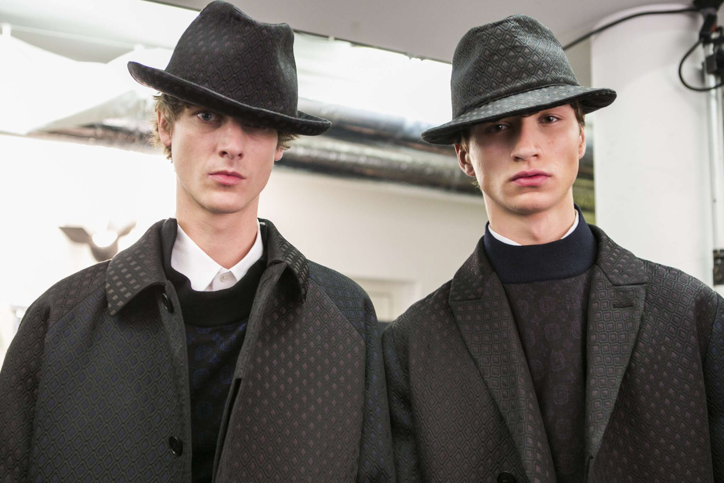 Fall Winter Models Backstage Ermenegildo Zegna Couture