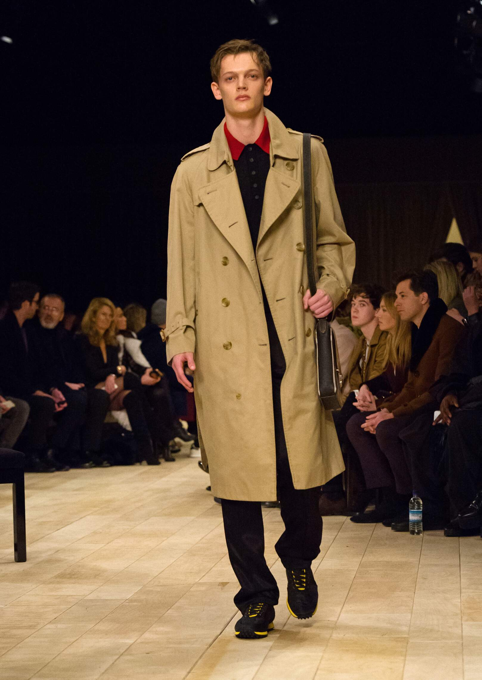 Fashion Man Model Burberry Catwalk