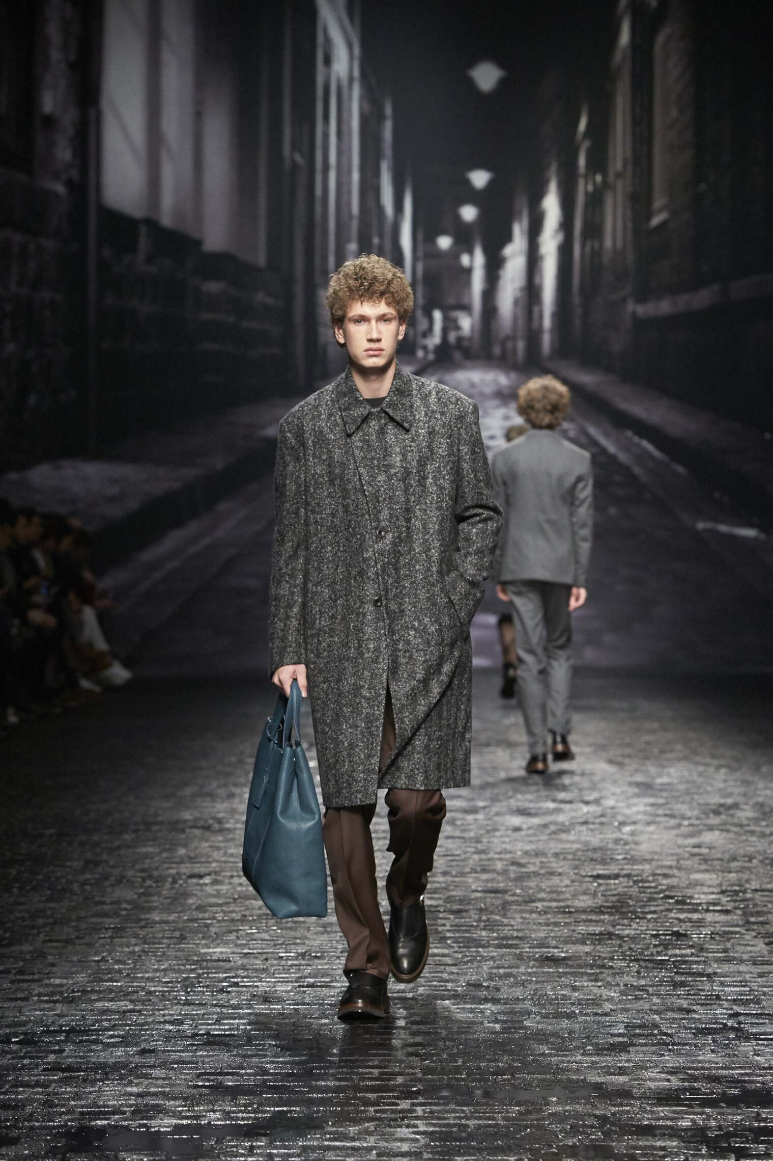 Fashion Man Model Corneliani Catwalk