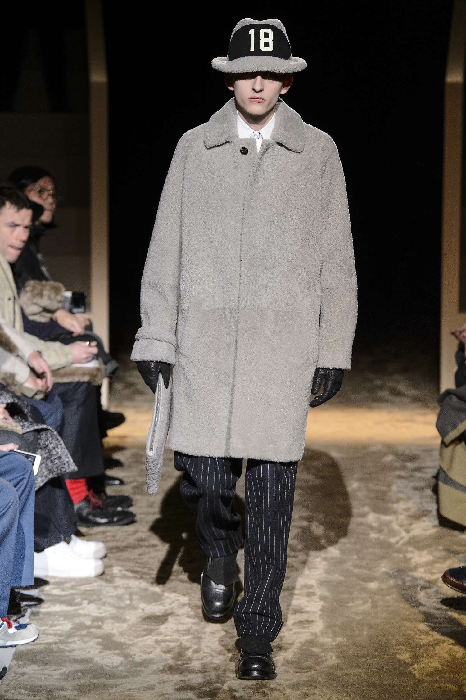 Fashion Man Model Ermenegildo Zegna Couture Catwalk