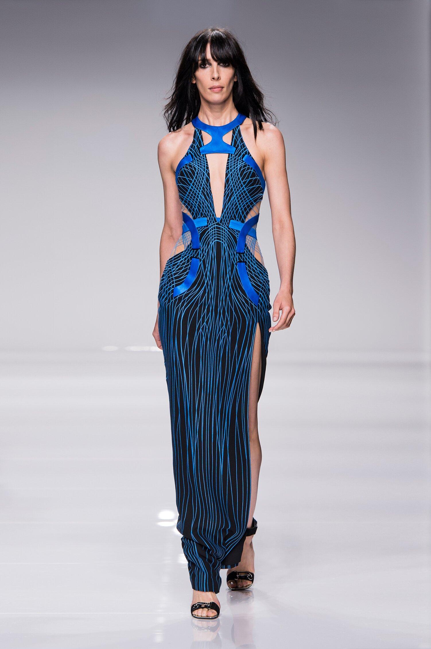 Fashion Model Atelier Versace Couture Catwalk