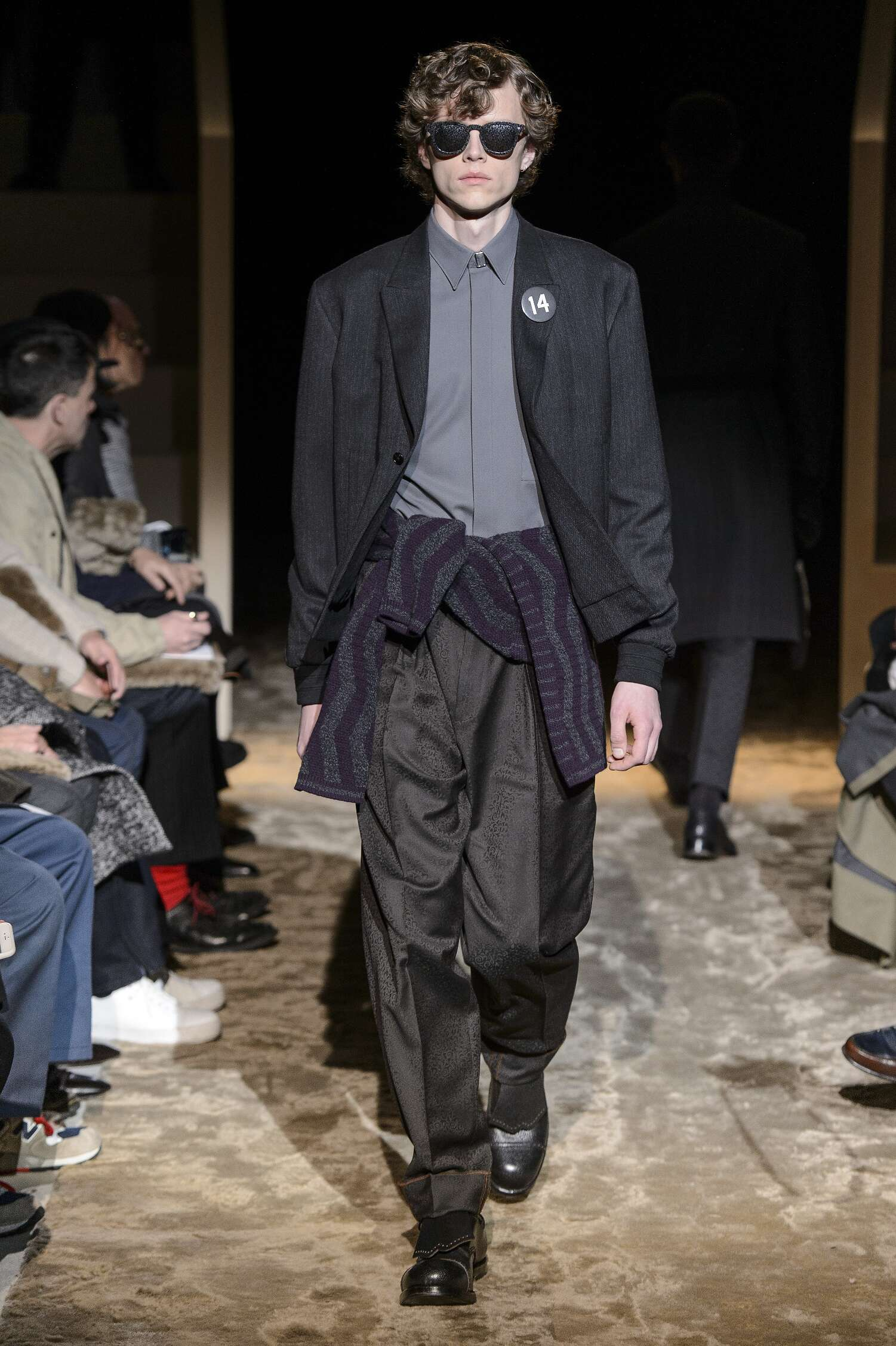 Fashion Model Ermenegildo Zegna Couture Catwalk