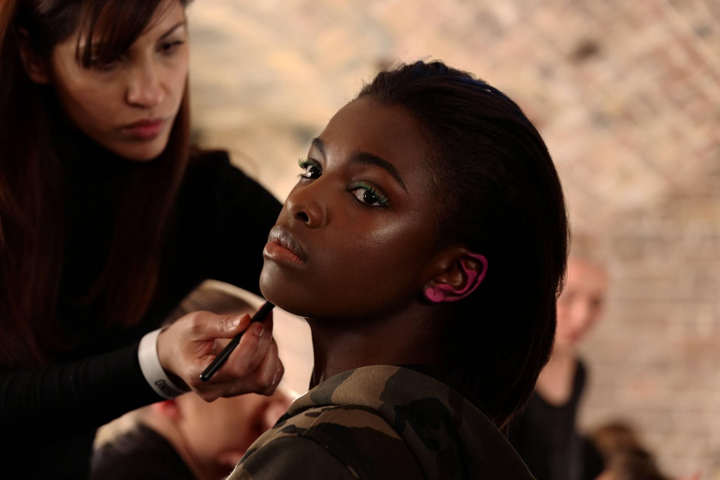 Fashion Model Moschino Backstage Makeup London