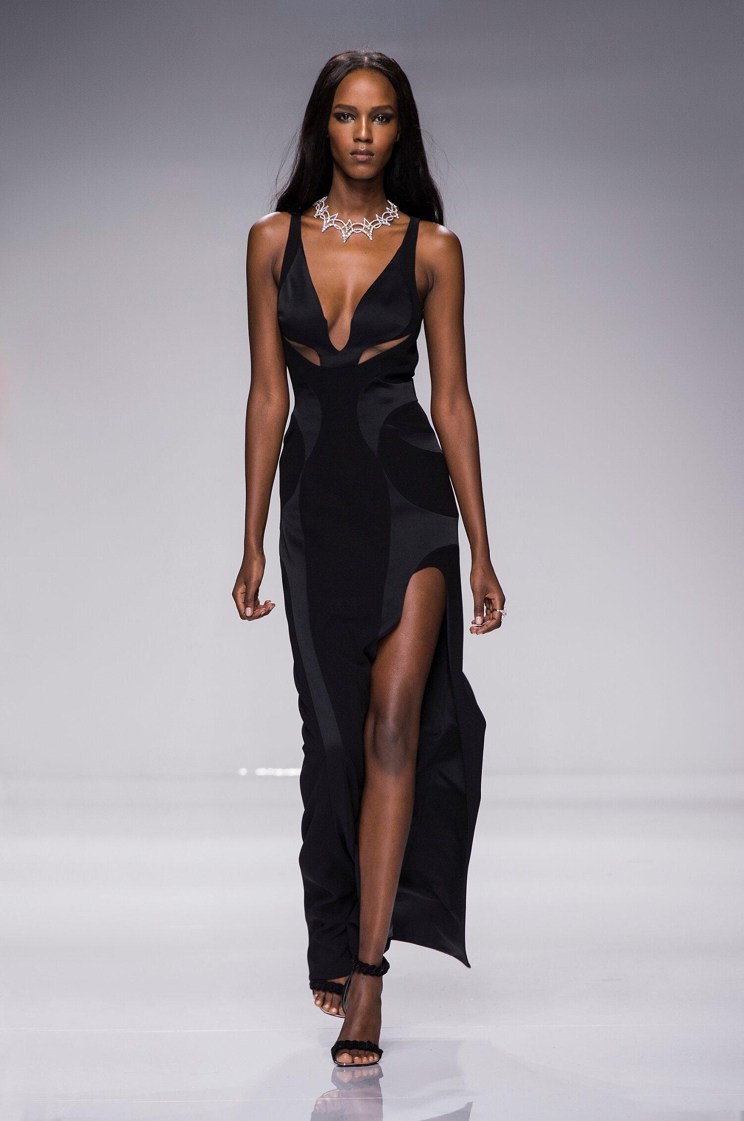 Fashion Woman Model Atelier Versace Couture Catwalk